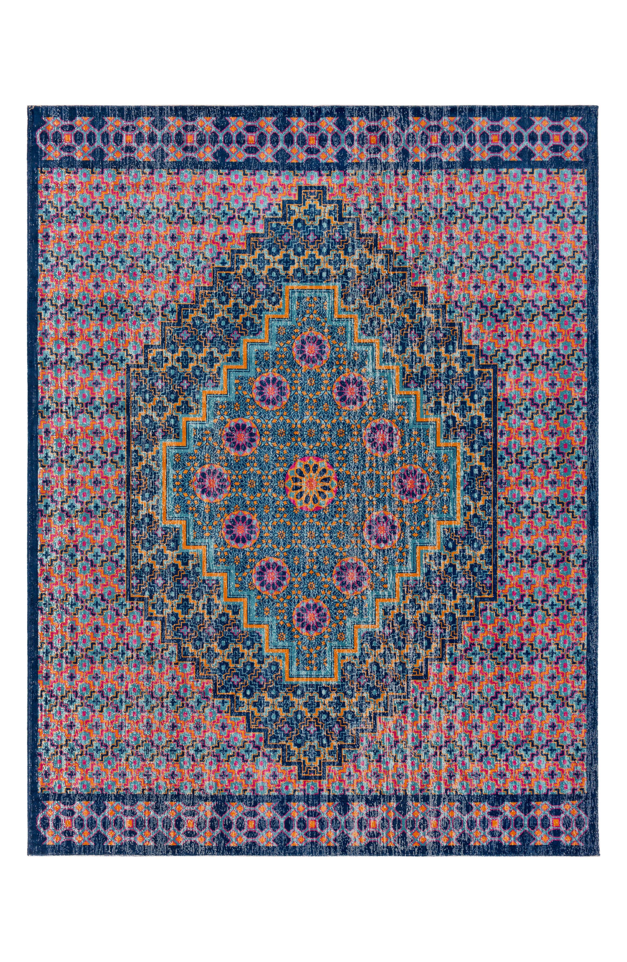 Tessera Global Rug,                             Main thumbnail 1, color,                             BLUE/ PINK