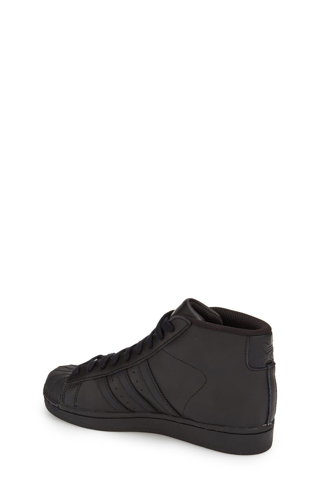 'Pro Model' High Top Sneaker,                             Alternate thumbnail 4, color,                             001