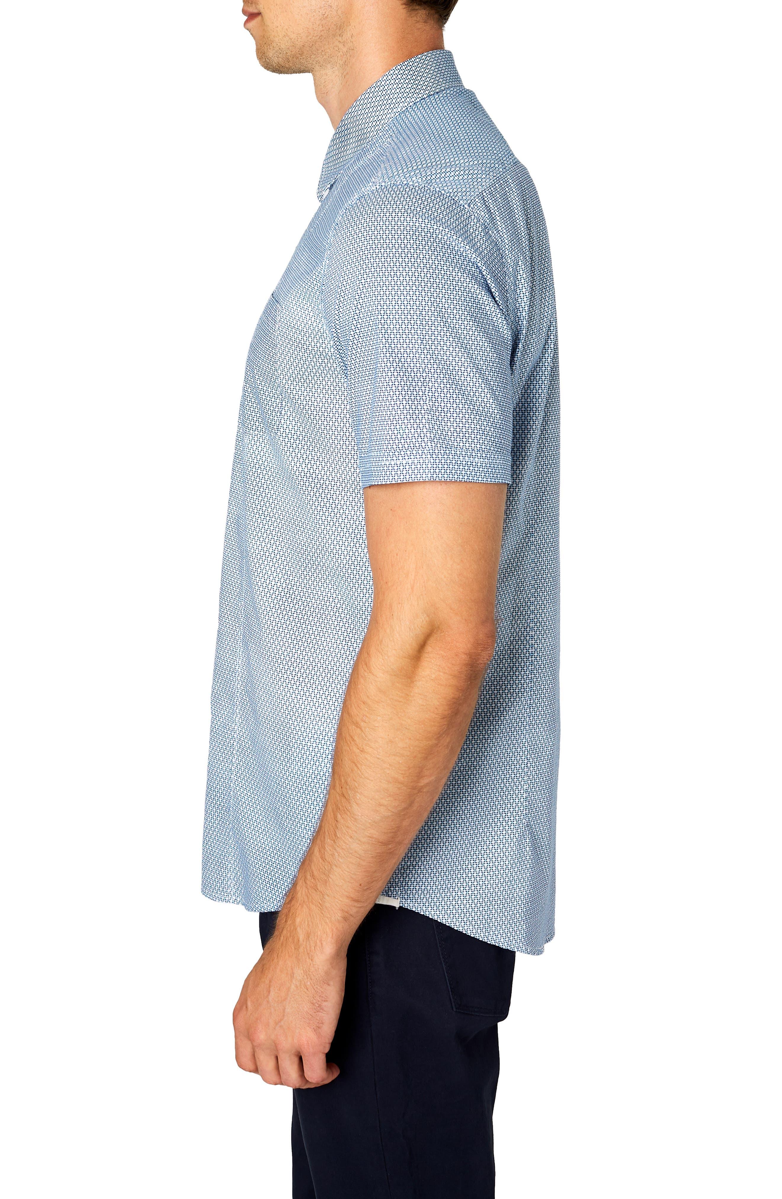 Free Rein Trim Fit Sport Shirt,                             Alternate thumbnail 4, color,                             BLUE