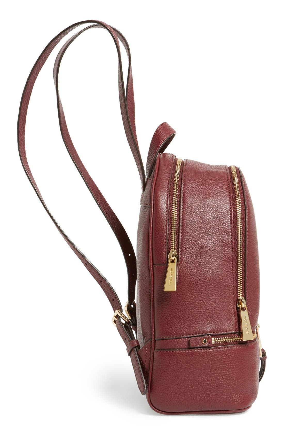 'Extra Small Rhea Zip' Leather Backpack,                             Alternate thumbnail 20, color,