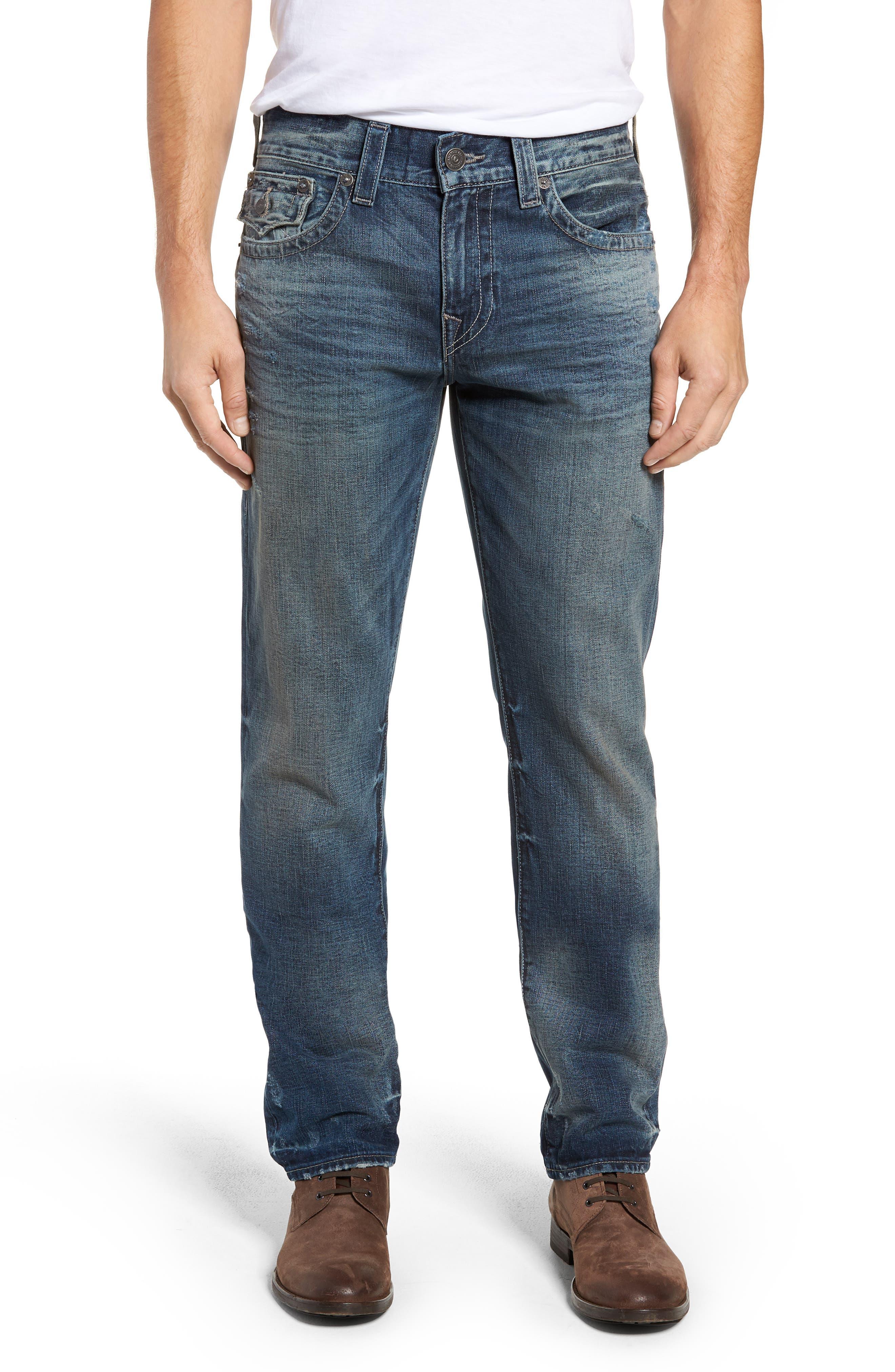 Geno Straight Leg Jeans,                             Main thumbnail 1, color,                             COMBAT BLUE