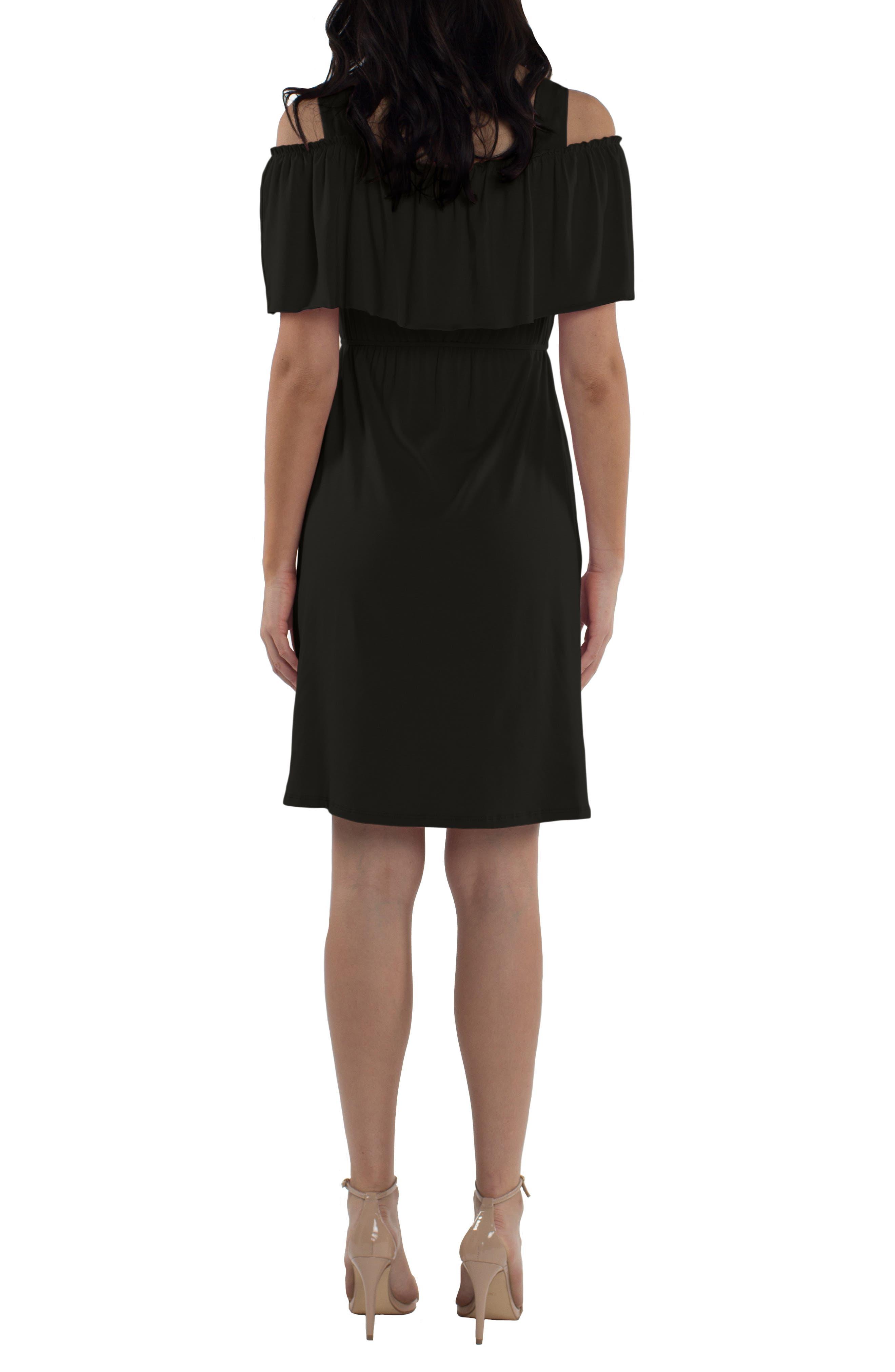 Reagan Nursing Dress,                             Alternate thumbnail 2, color,                             BLACK