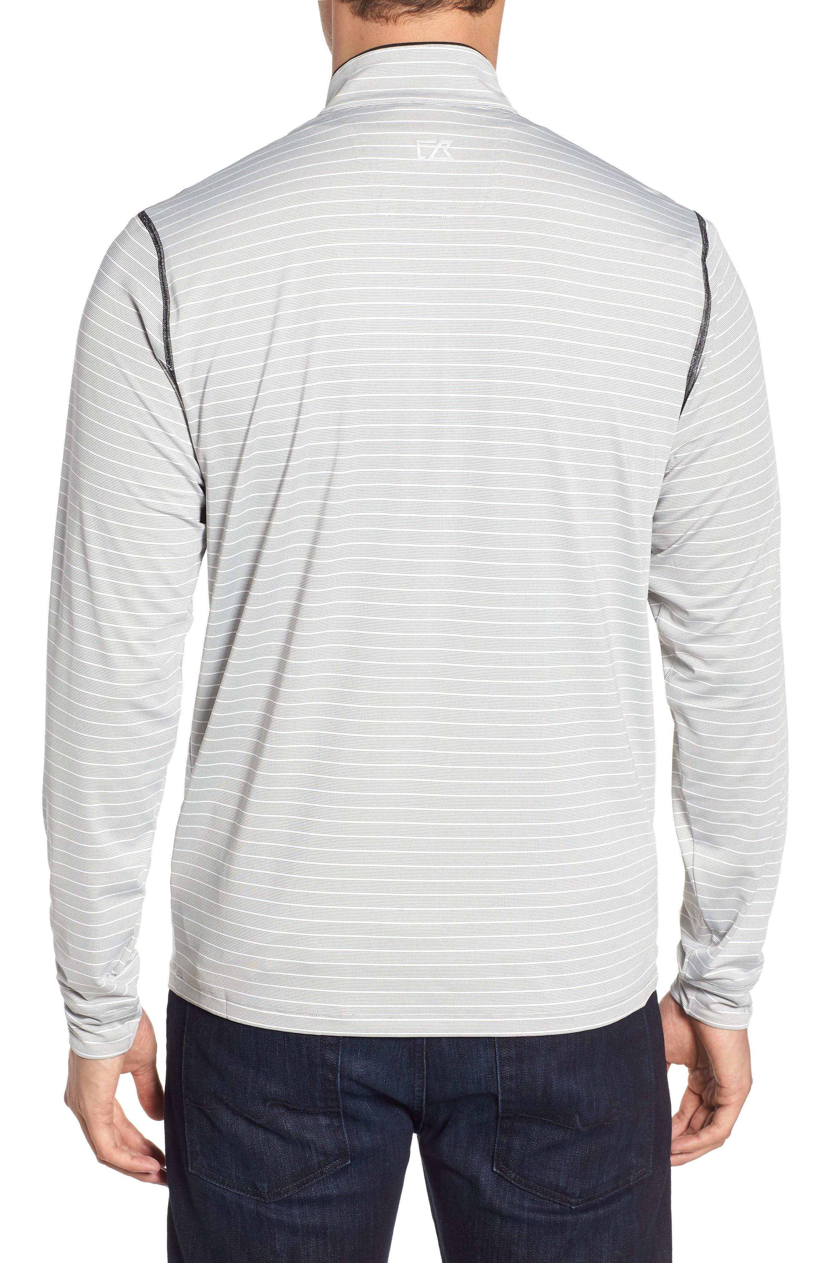 Oakland Raiders - Meridian Half Zip Pullover,                             Alternate thumbnail 2, color,                             BLACK
