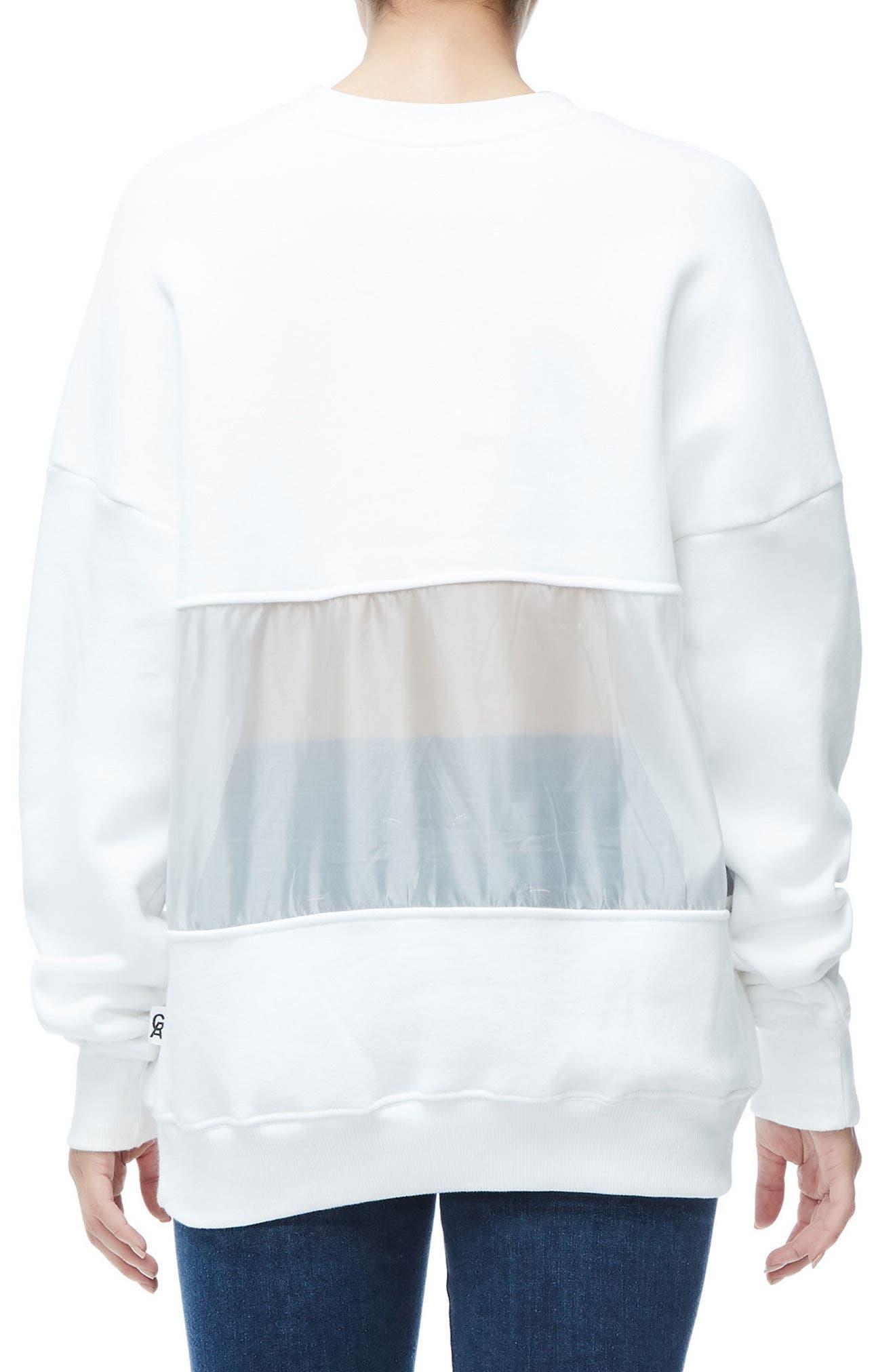 Mixed Media Oversize Sweatshirt,                             Alternate thumbnail 4, color,