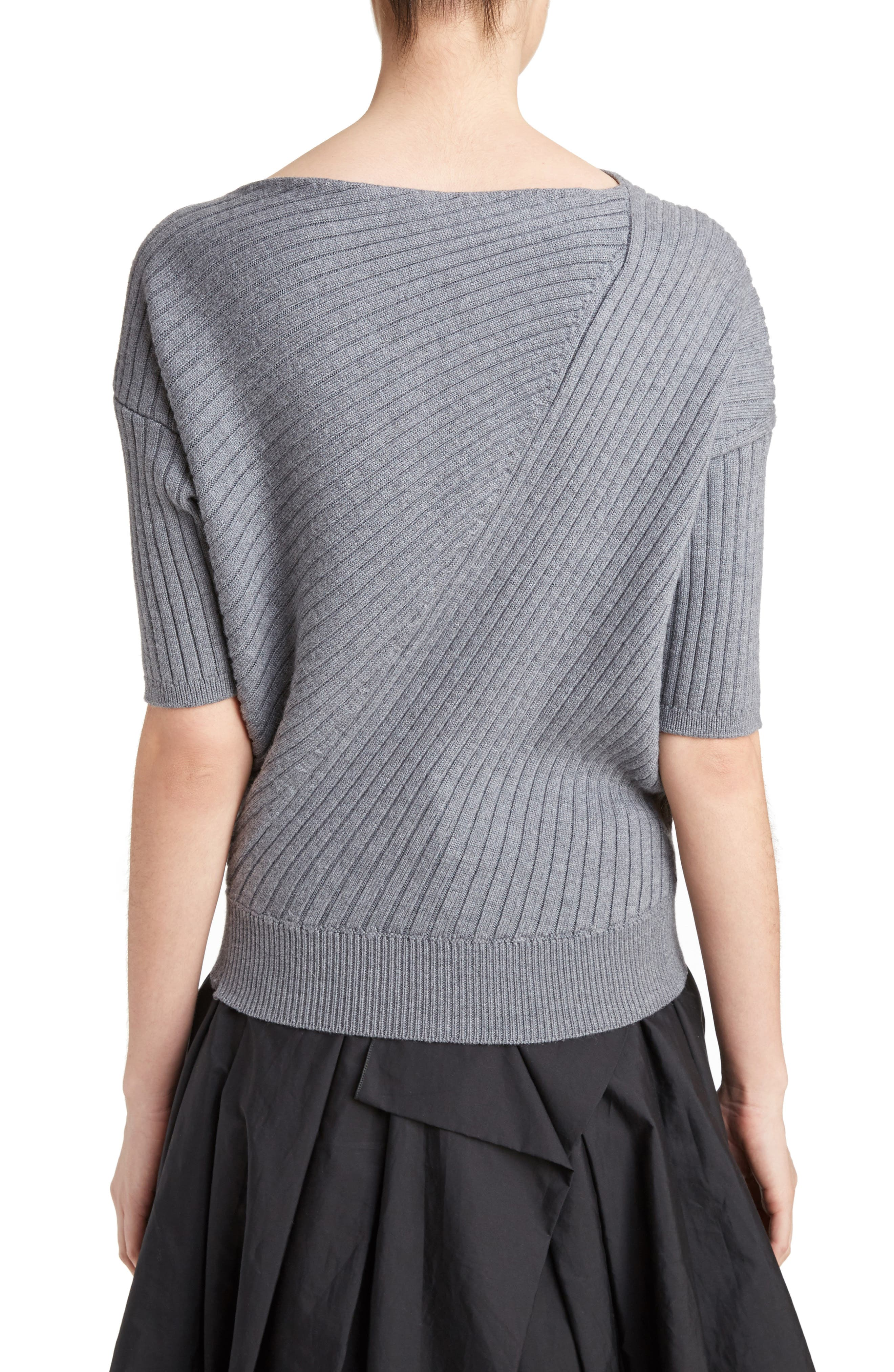 J.W.ANDERSON Infiniti Ribbed Wool Sweater,                             Alternate thumbnail 2, color,                             050
