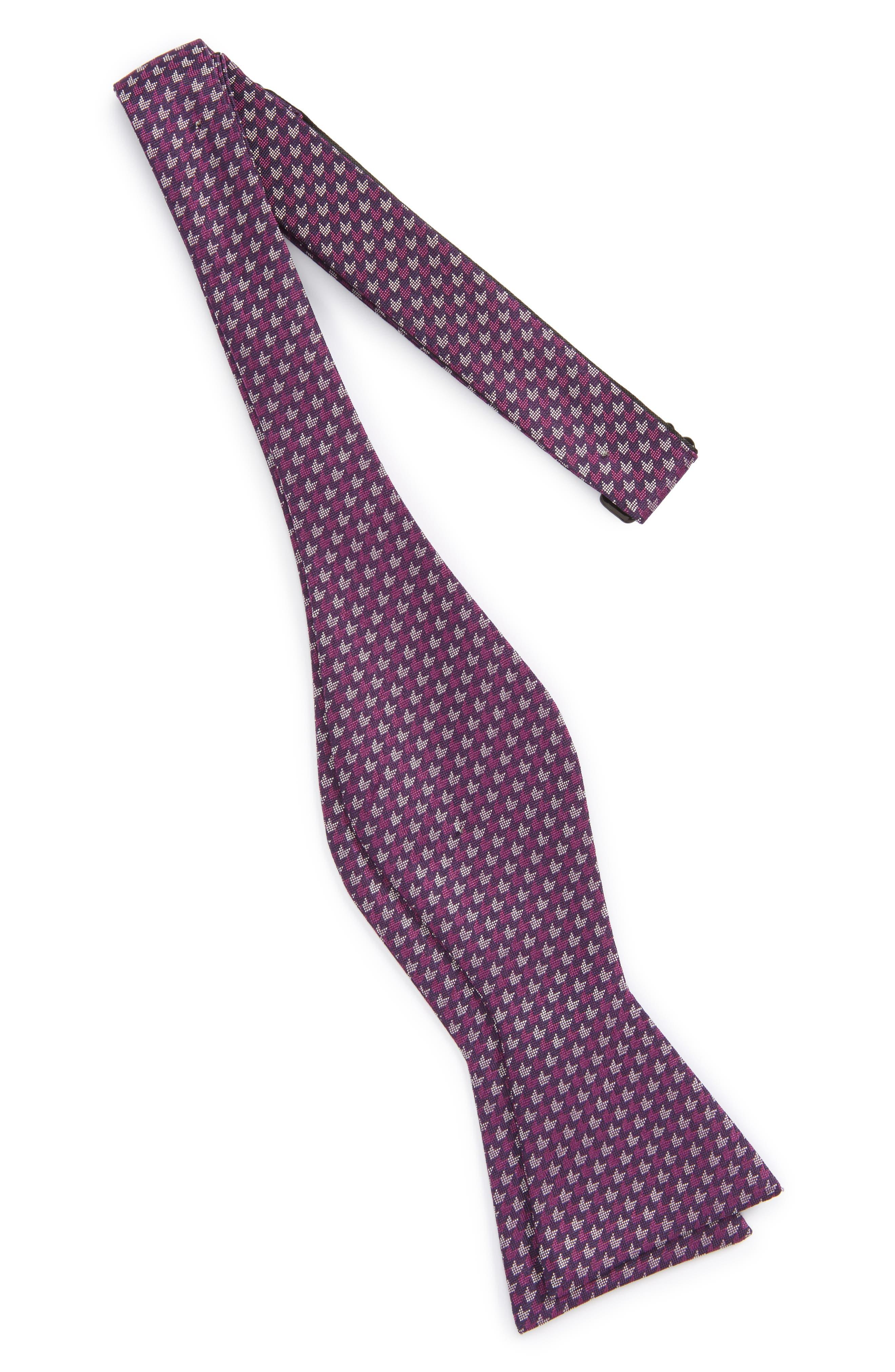 One Way Geometric Silk Bow Tie,                             Alternate thumbnail 8, color,