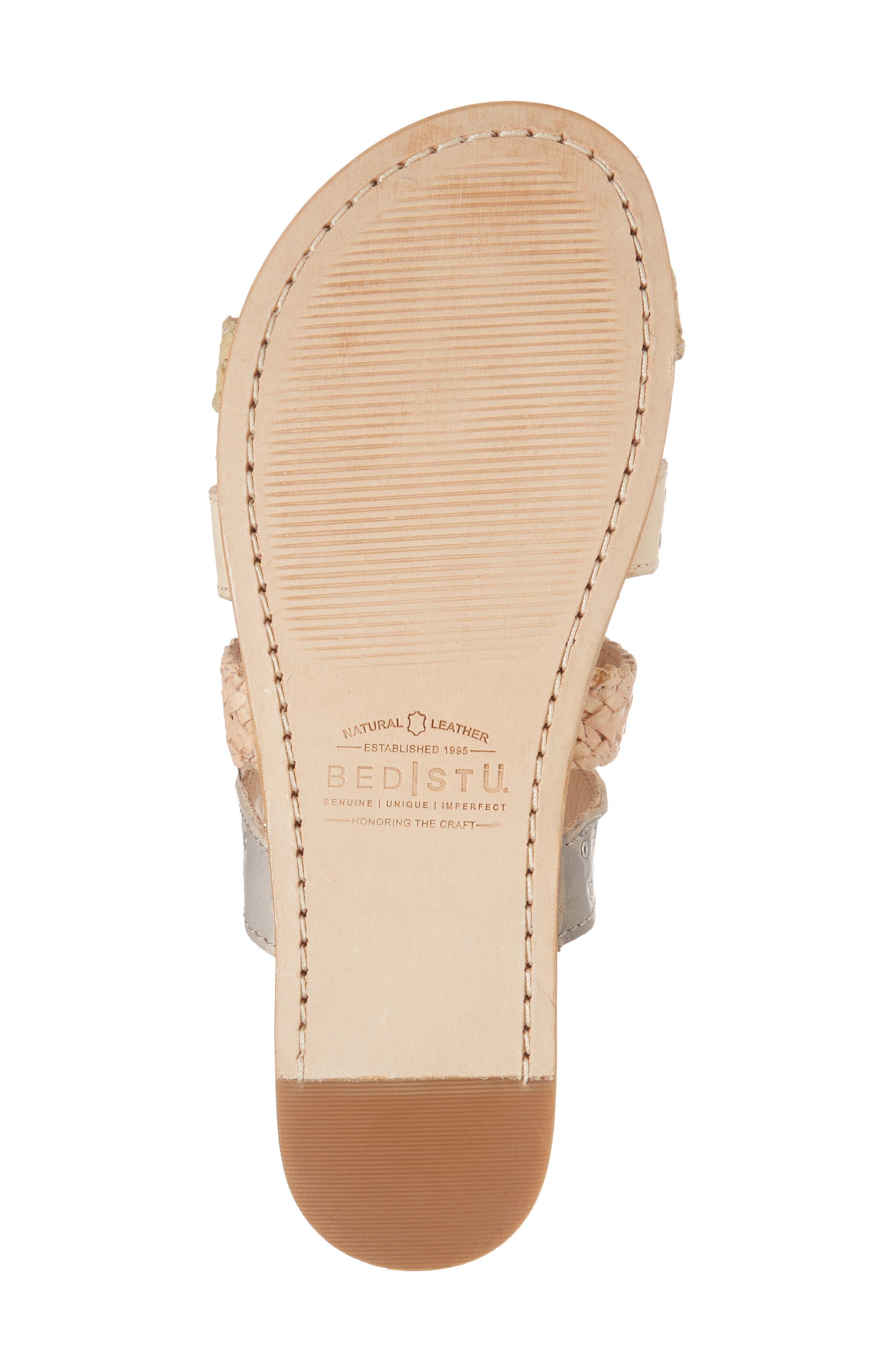 Henna Slide Sandal,                             Alternate thumbnail 6, color,                             CASHEW/ LIGHT GREY LEATHER