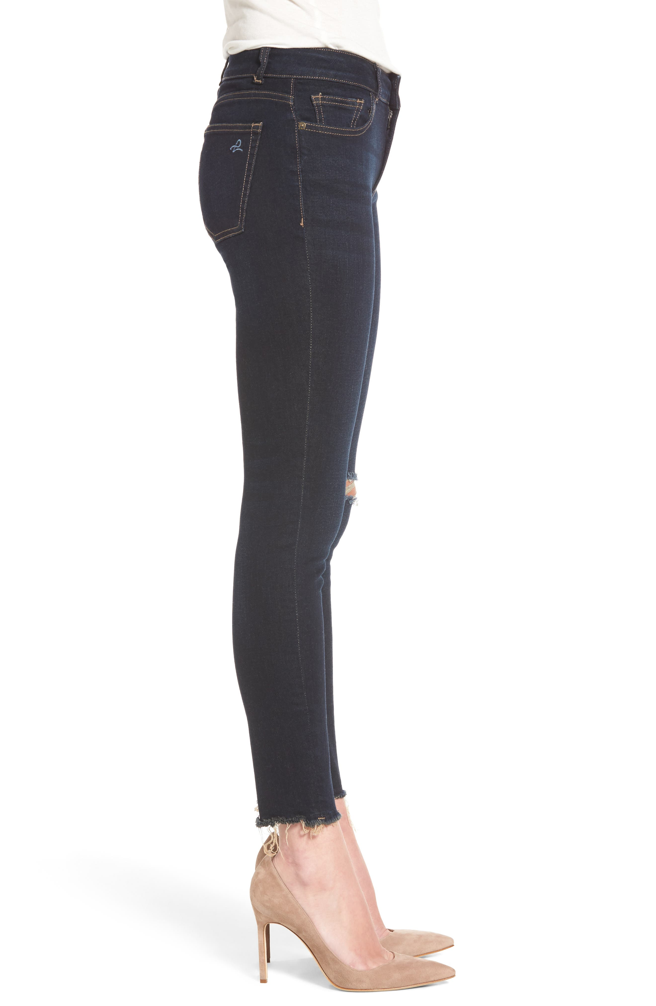 Margaux Instasculpt Ripped Ankle Skinny Jeans,                             Alternate thumbnail 3, color,                             025
