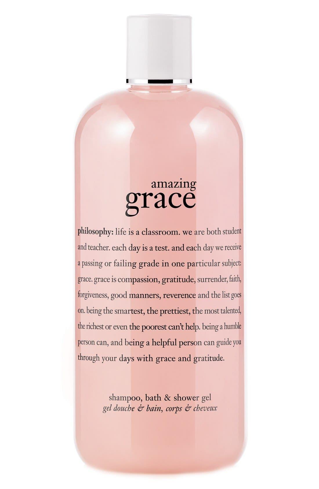 'amazing grace' shampoo, bath & shower gel,                             Main thumbnail 1, color,                             NO COLOR