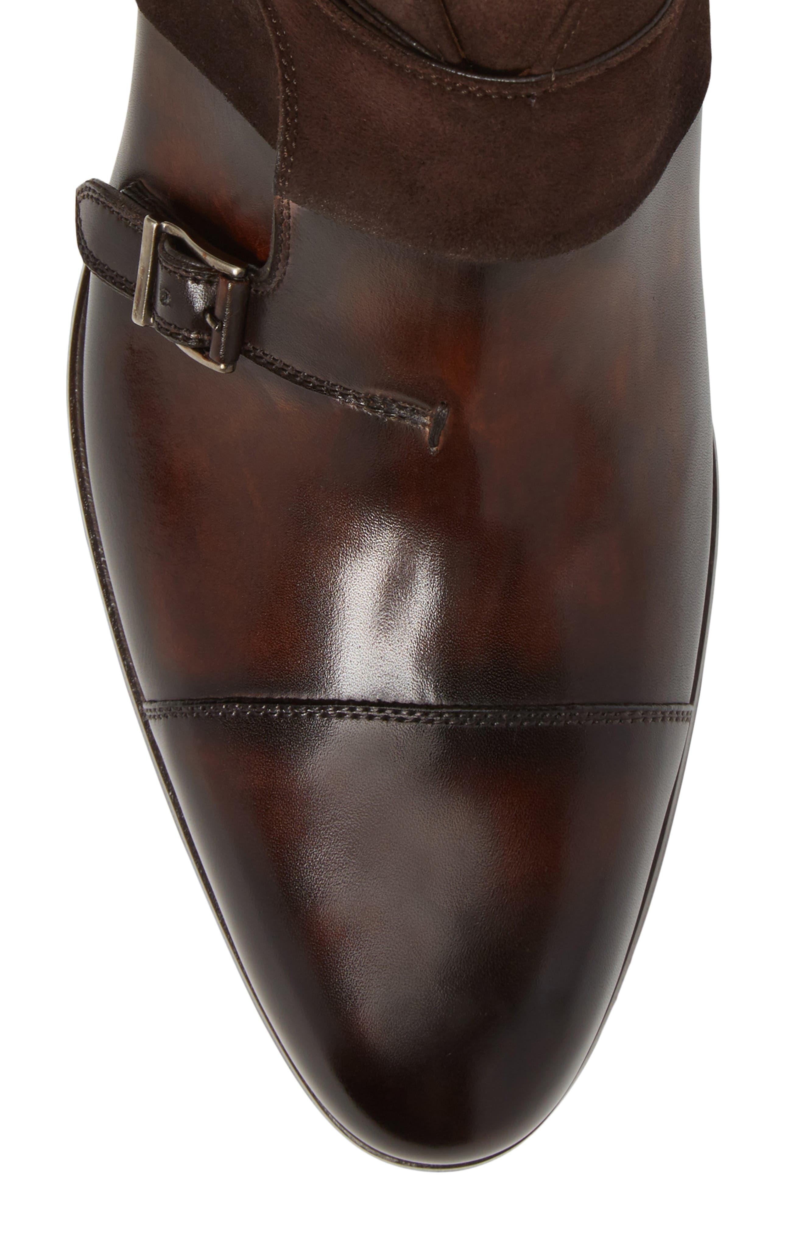 Octavian Double Monk Strap Boot,                             Alternate thumbnail 5, color,                             200