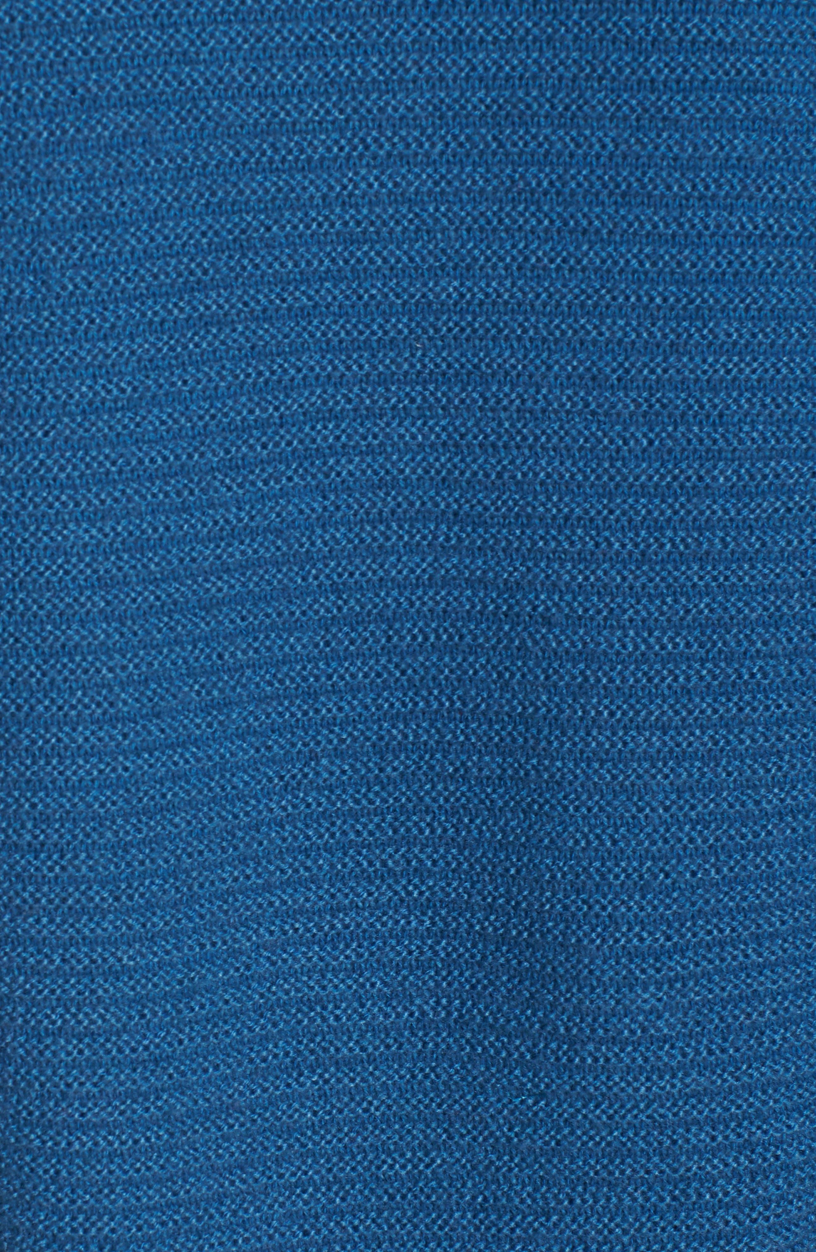 Ribbed Turtleneck Tunic Sweater,                             Alternate thumbnail 6, color,                             BLUE DARK