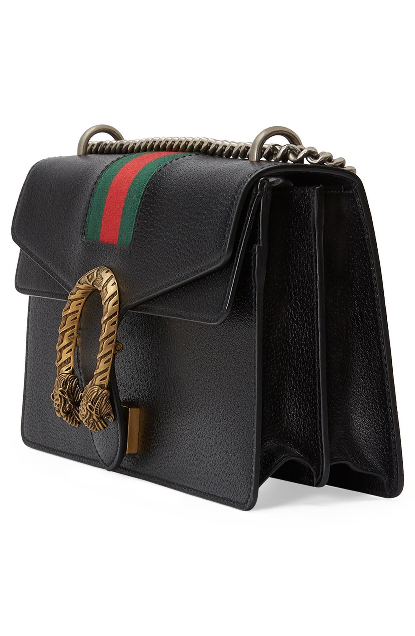 Dionysus Leather Shoulder Bag,                             Alternate thumbnail 7, color,                             625
