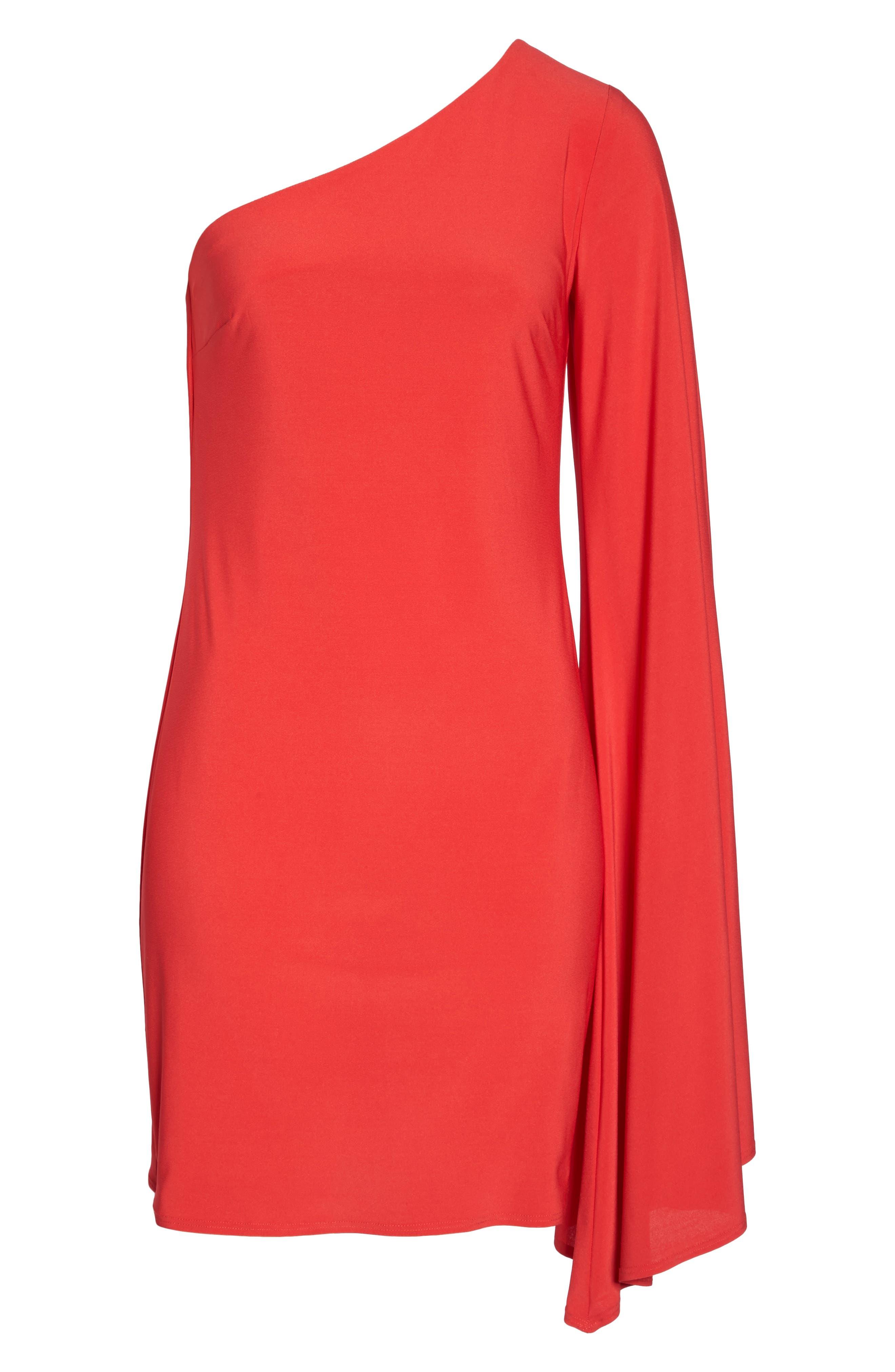 Musa One-Shoulder Dress,                             Alternate thumbnail 6, color,
