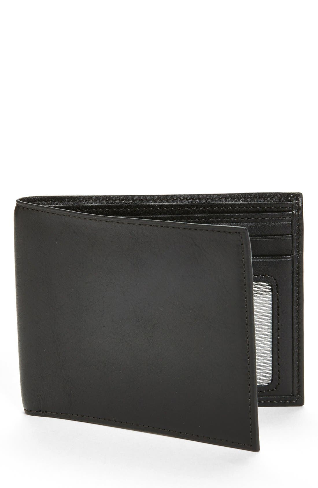 'Executive ID' Nappa Leather Wallet,                             Main thumbnail 1, color,                             BLACK