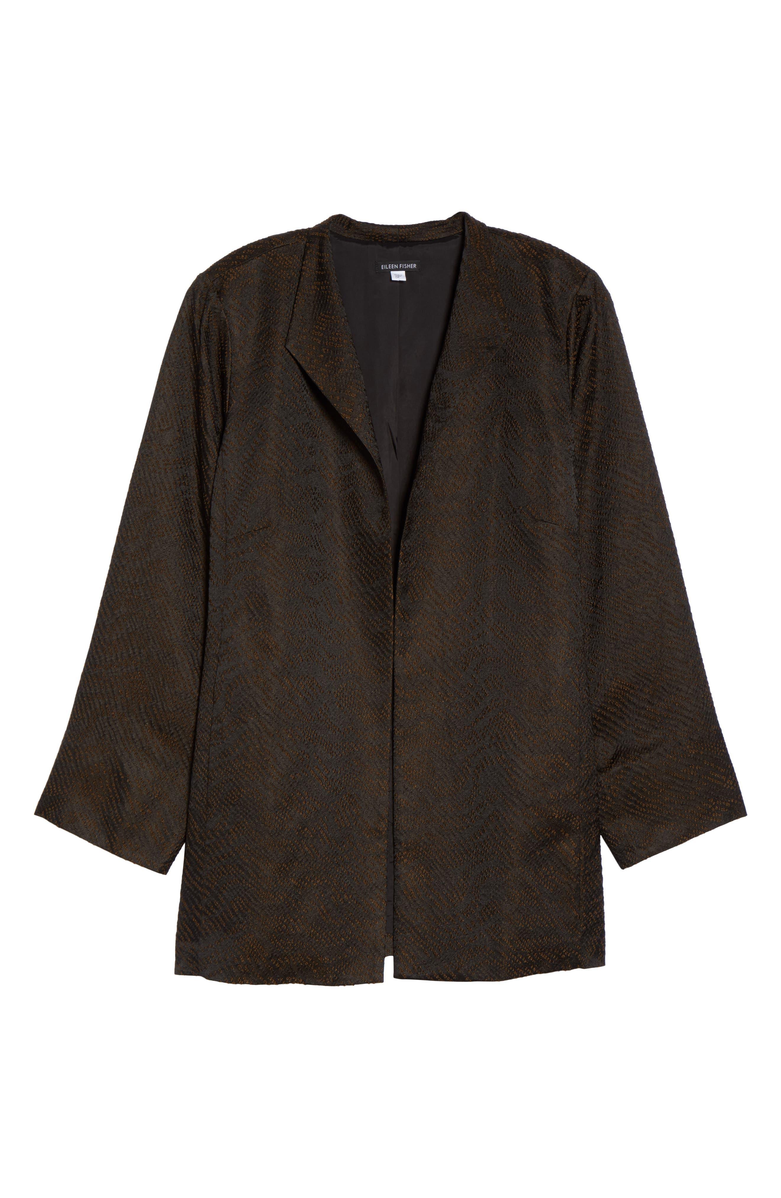 Silk Blend Jacquard Jacket,                             Alternate thumbnail 9, color,