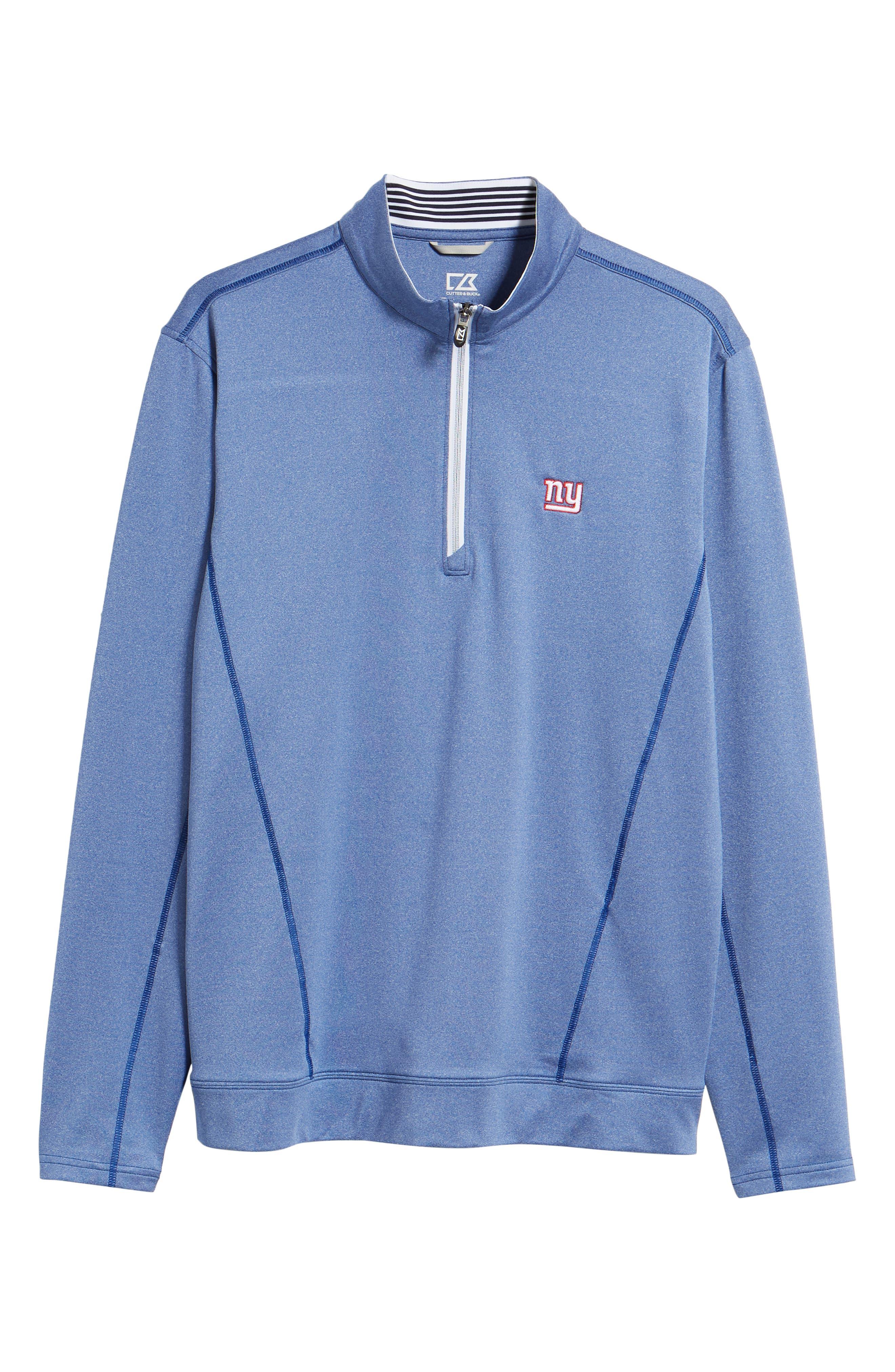 Endurance New York Giants Regular Fit Pullover,                             Alternate thumbnail 6, color,                             TOUR BLUE HEATHER