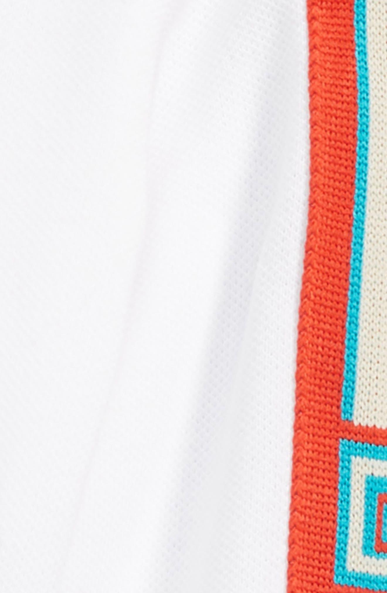 Long Sleeve Stripe Cotton Piqué Polo Shirt,                             Alternate thumbnail 2, color,                             OPT.WHITE/ MULTICOLOR
