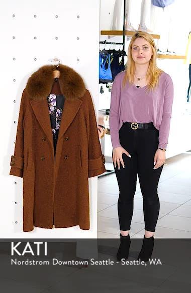 London Genuine Fox Fur Trim Long Coat, sales video thumbnail