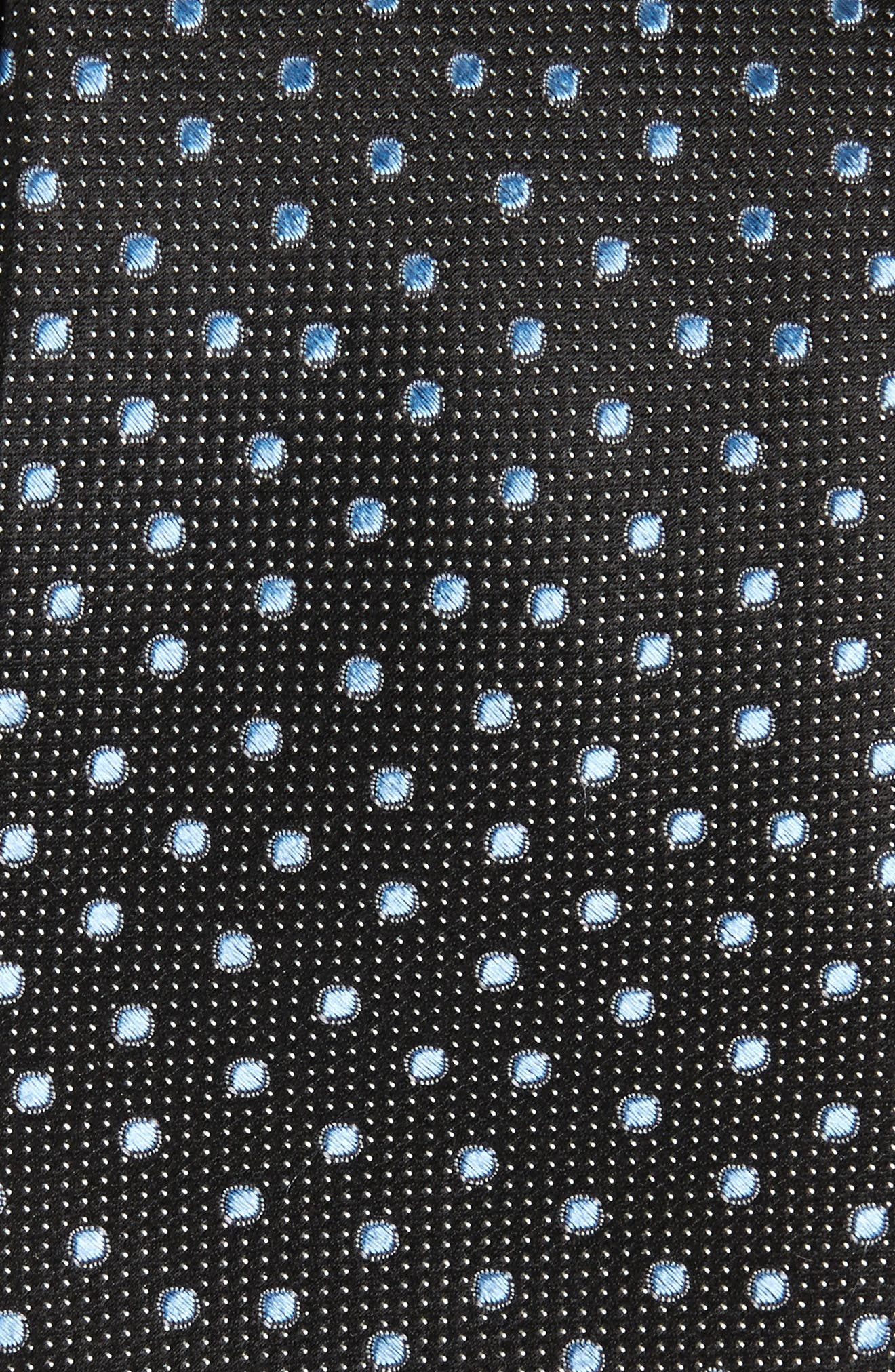 Double Dot Silk Tie,                             Alternate thumbnail 9, color,