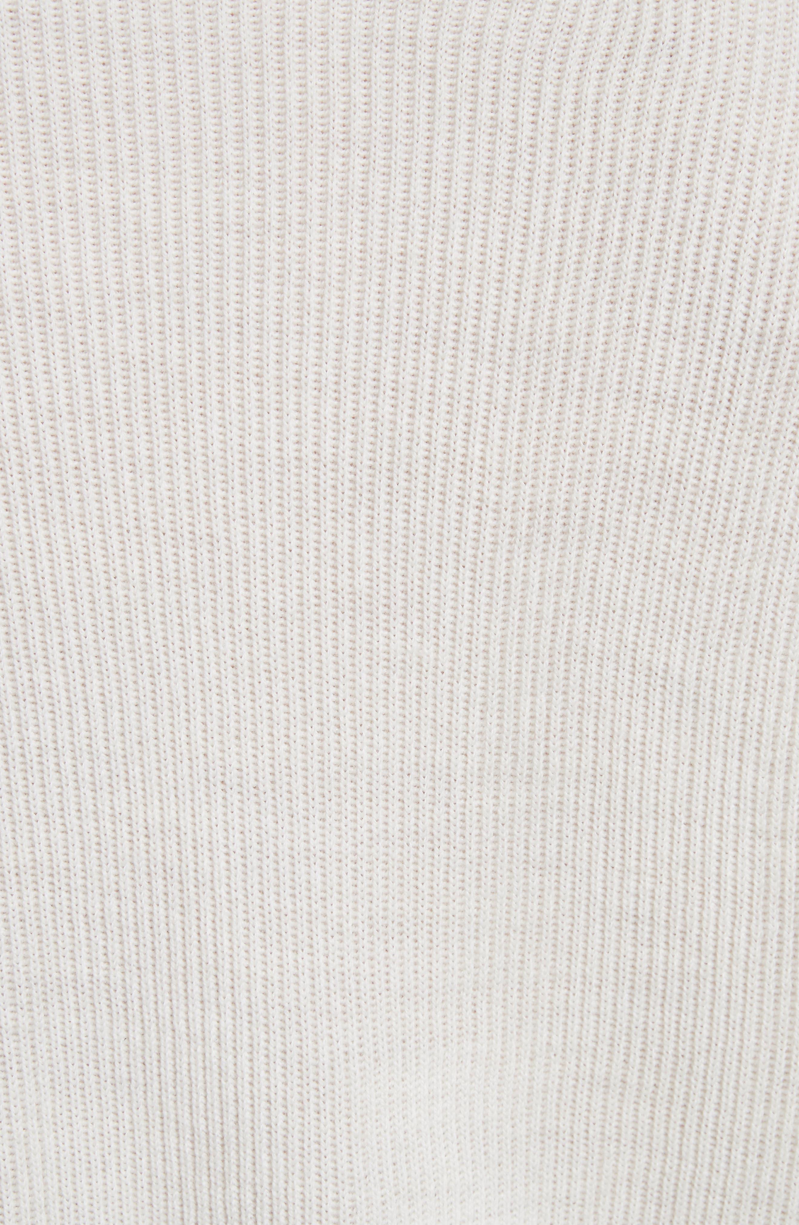 T by Alexander Wang Snap Detail Merino Wool Blend Sweater,                             Alternate thumbnail 5, color,                             906
