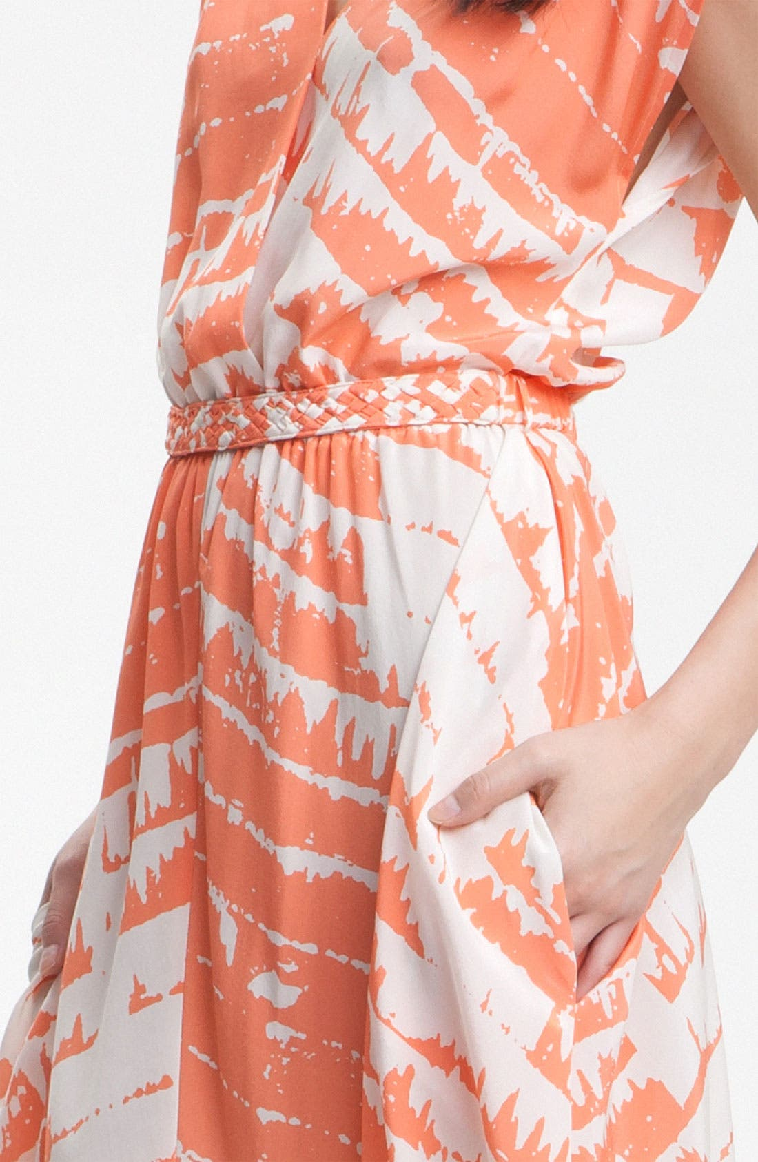 'Opal' Print Silk Maxi Dress,                             Alternate thumbnail 2, color,                             810