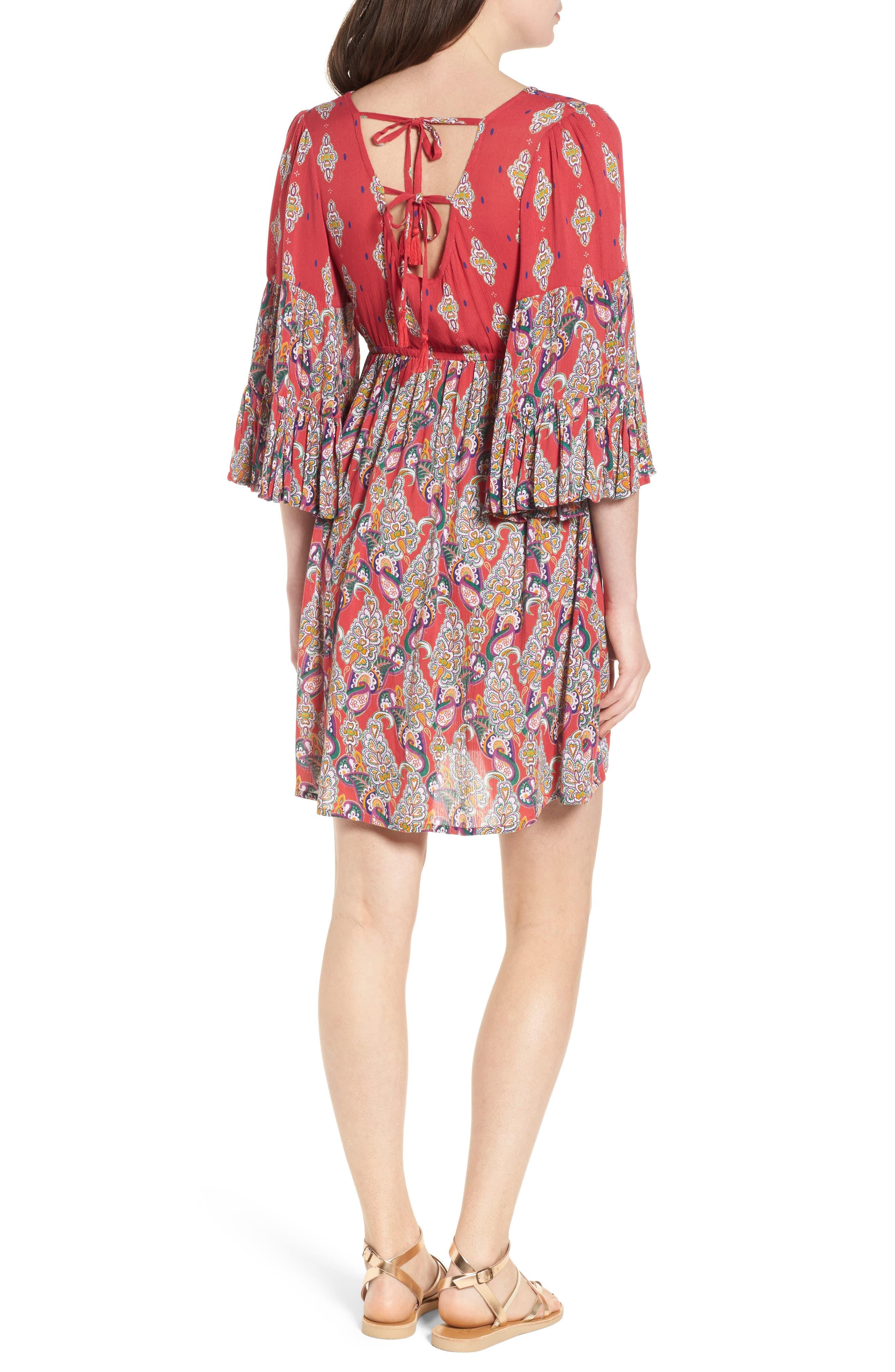 Alice Bell Sleeve Babydoll Dress,                             Alternate thumbnail 2, color,                             645