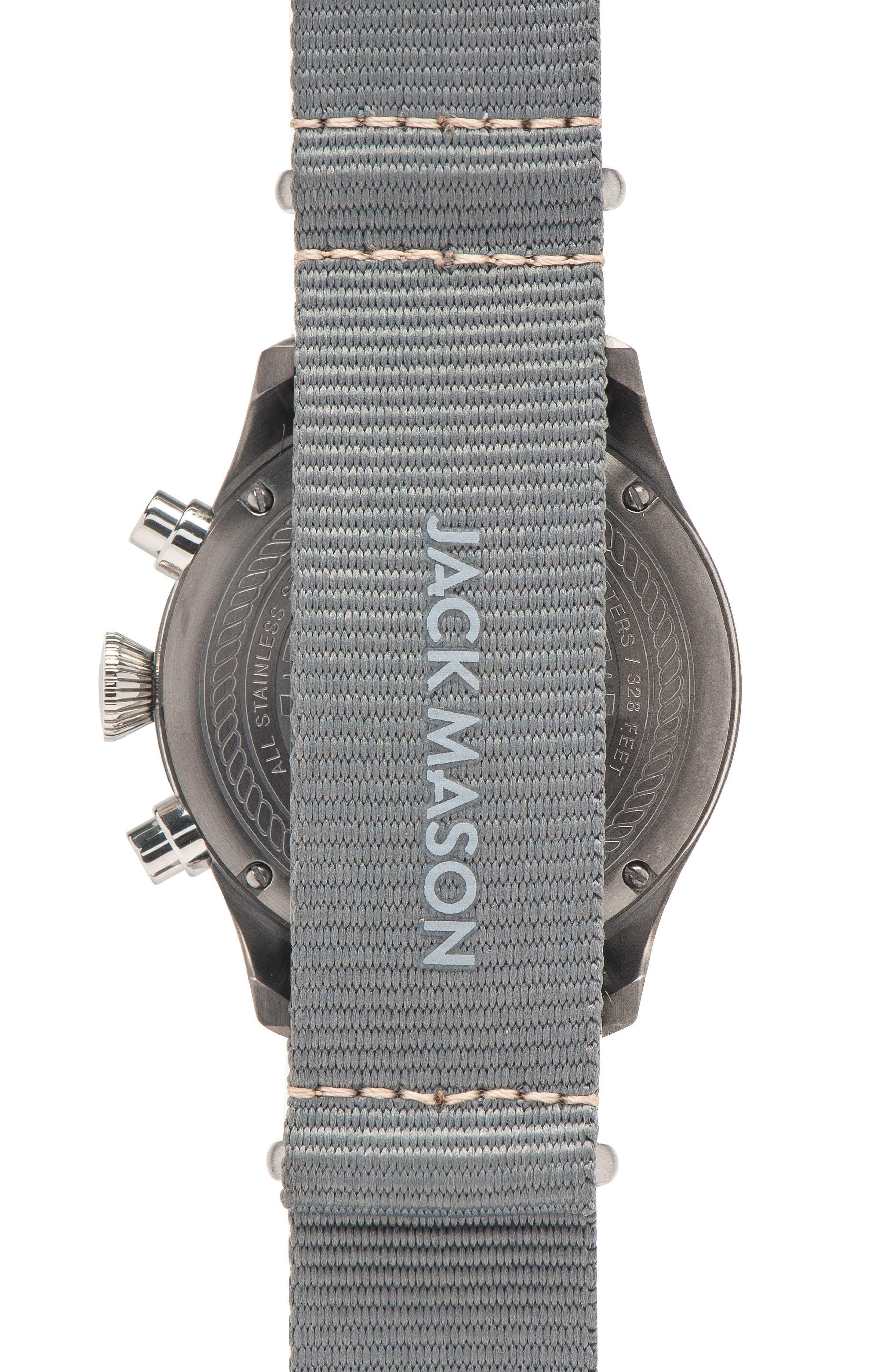 Aviation Chronograph NATO Strap Watch 42mm,                             Alternate thumbnail 2, color,                             020