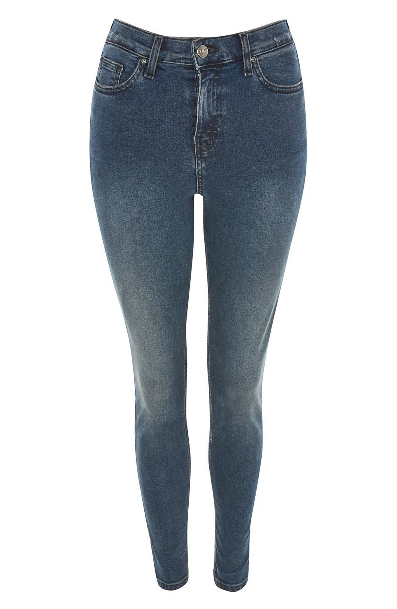 Jamie High Waist Ankle Skinny Jeans,                             Alternate thumbnail 2, color,                             410