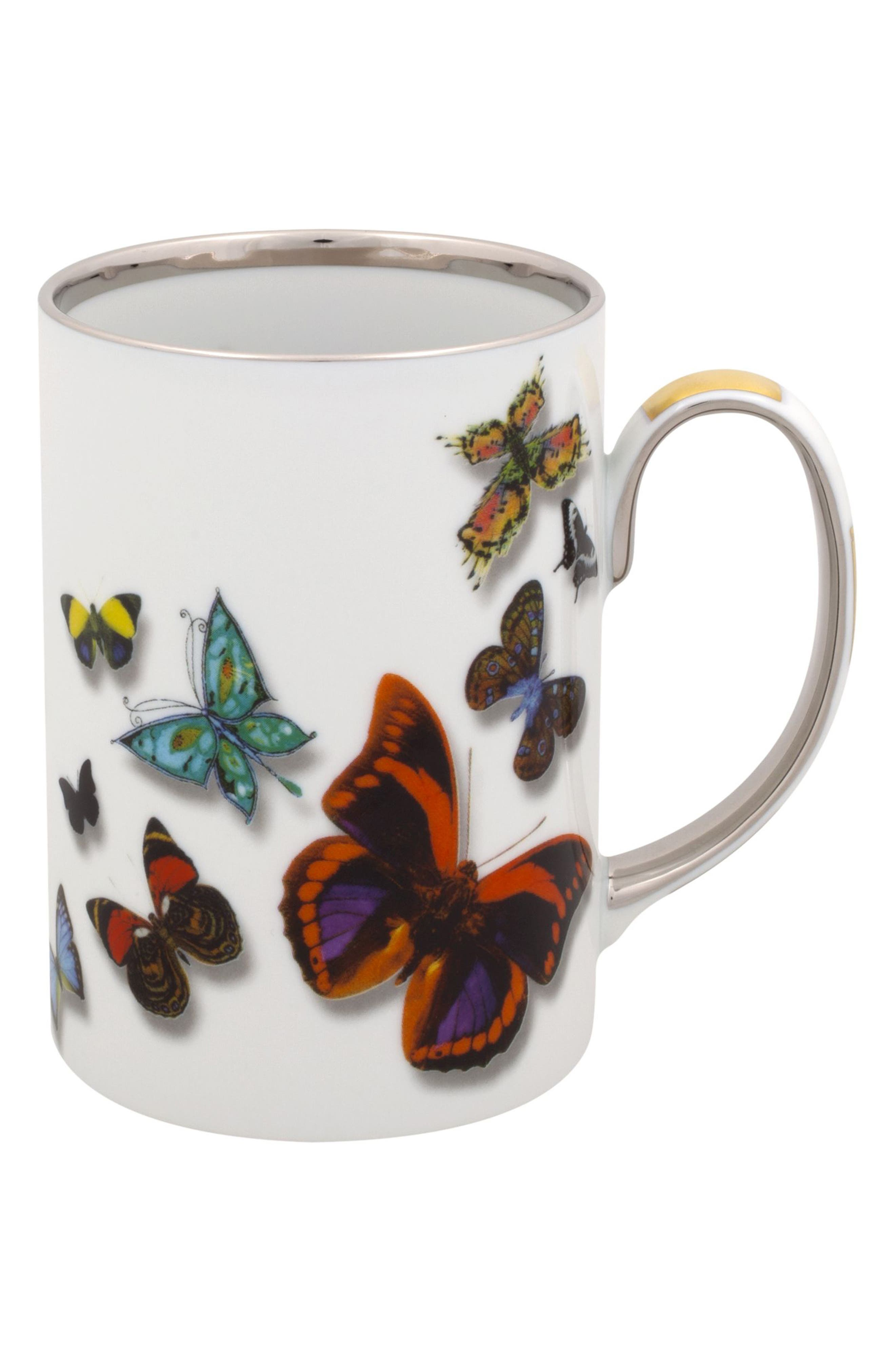 Butterfly 4-Piece Place Setting,                             Alternate thumbnail 2, color,                             WHITE