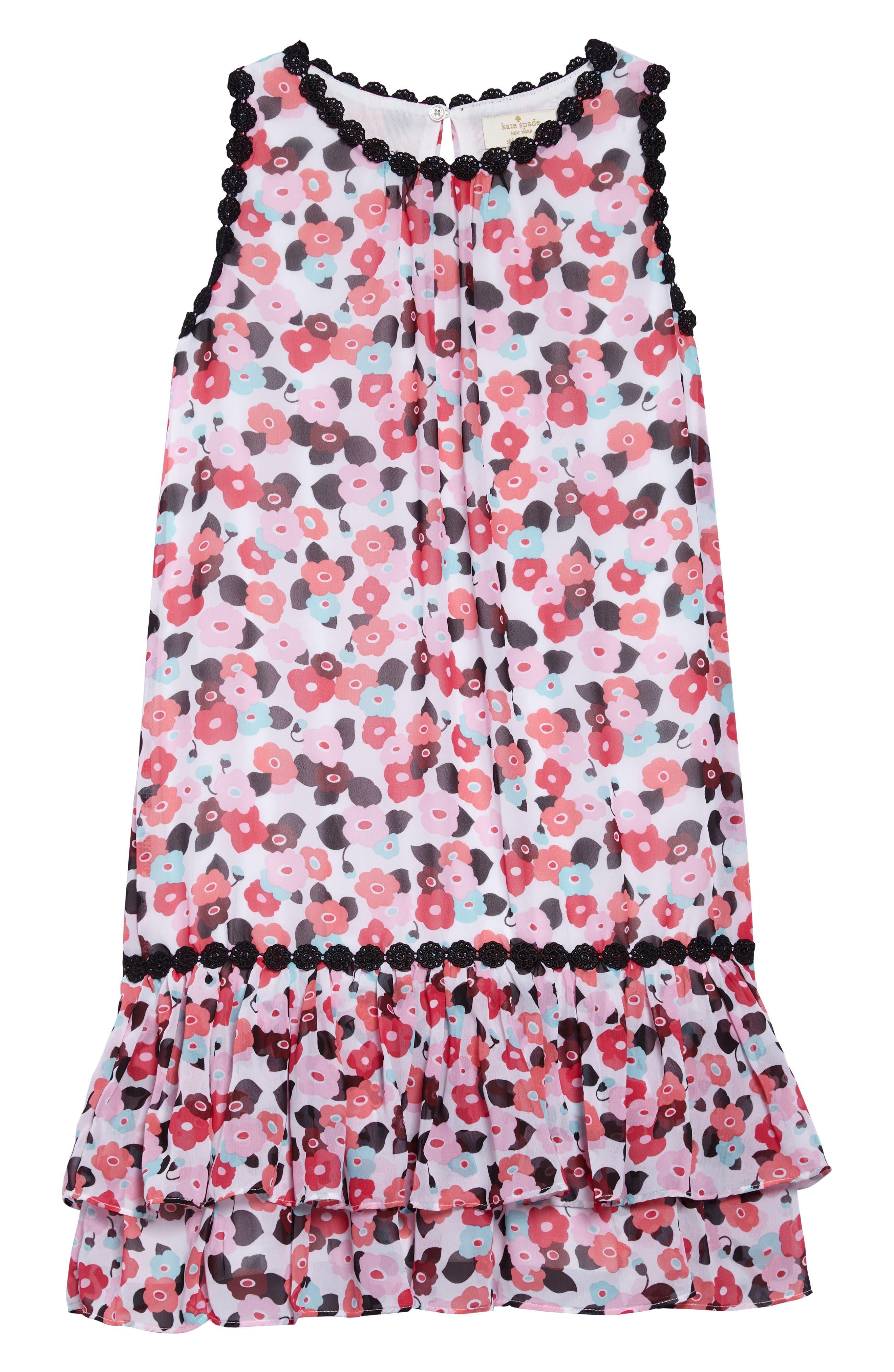 blooming floral dress,                             Main thumbnail 1, color,