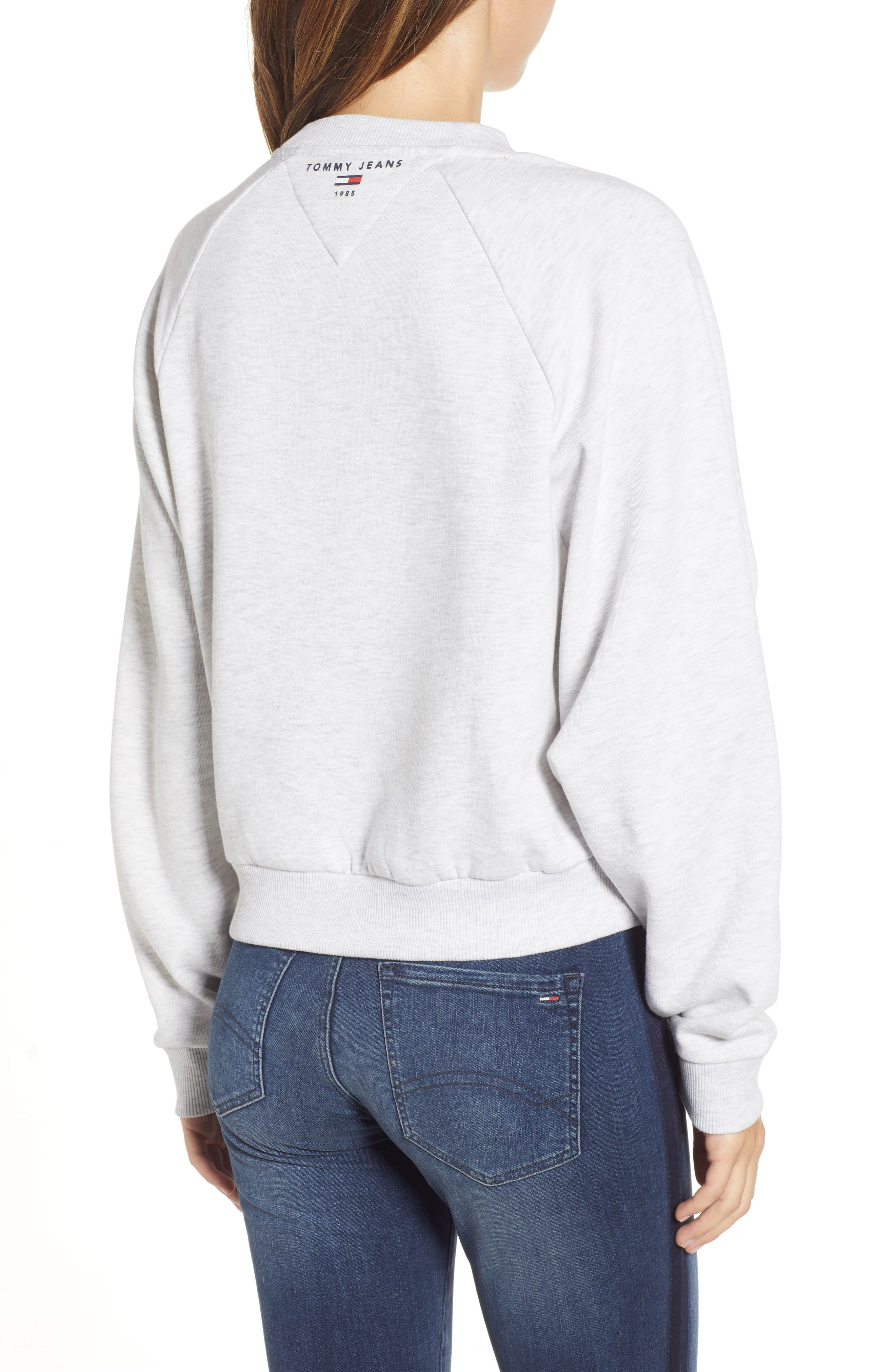 TJW Raglan Sweatshirt,                             Alternate thumbnail 2, color,                             PALE GREY HEATHER