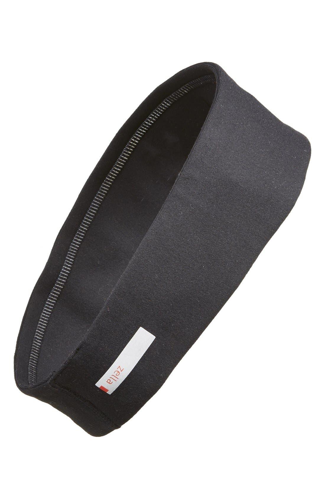 'Zeltek' Reflective Headband,                             Main thumbnail 1, color,                             BLACK