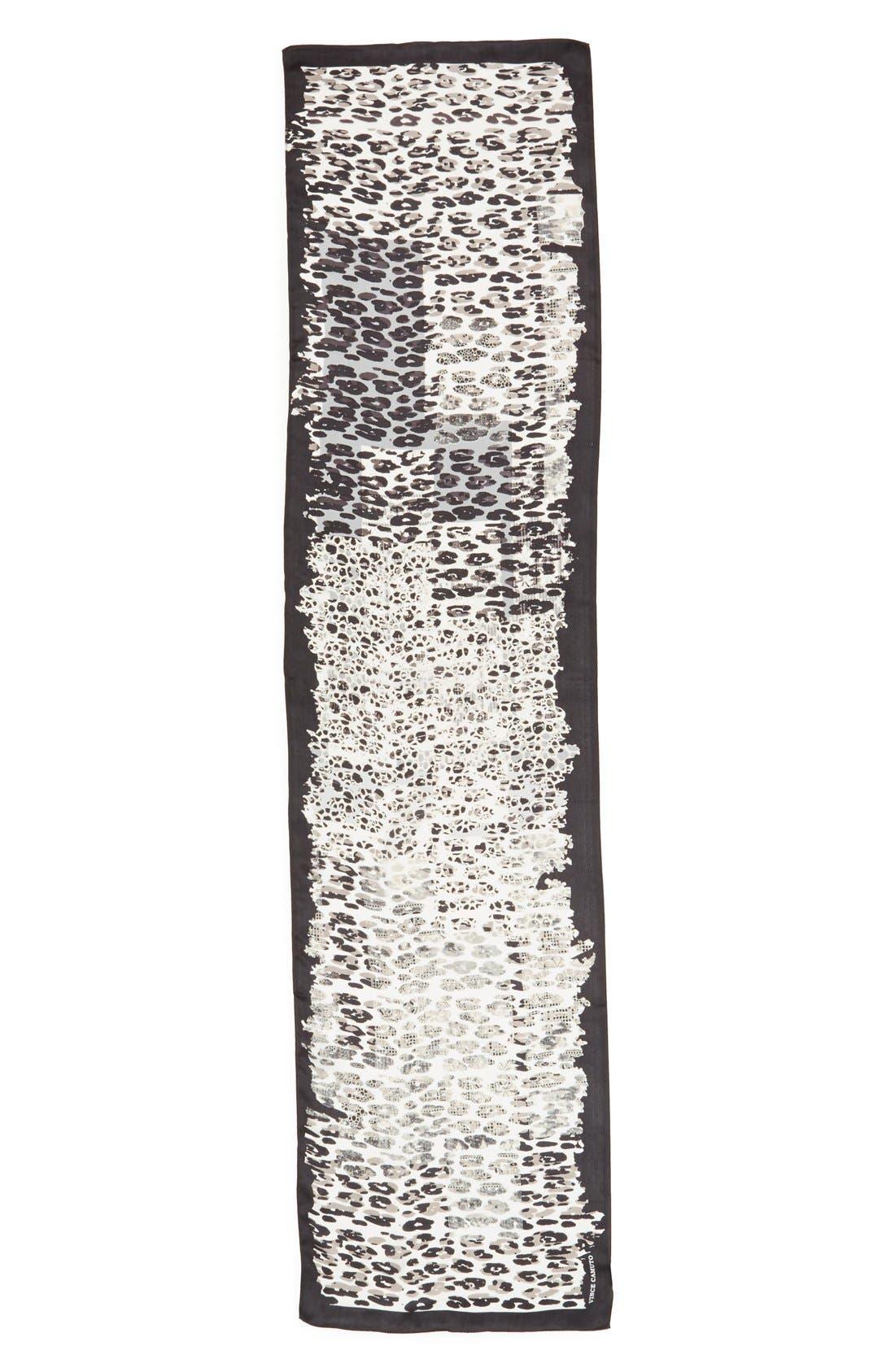 Cheetah Silk Scarf,                             Alternate thumbnail 2, color,                             001