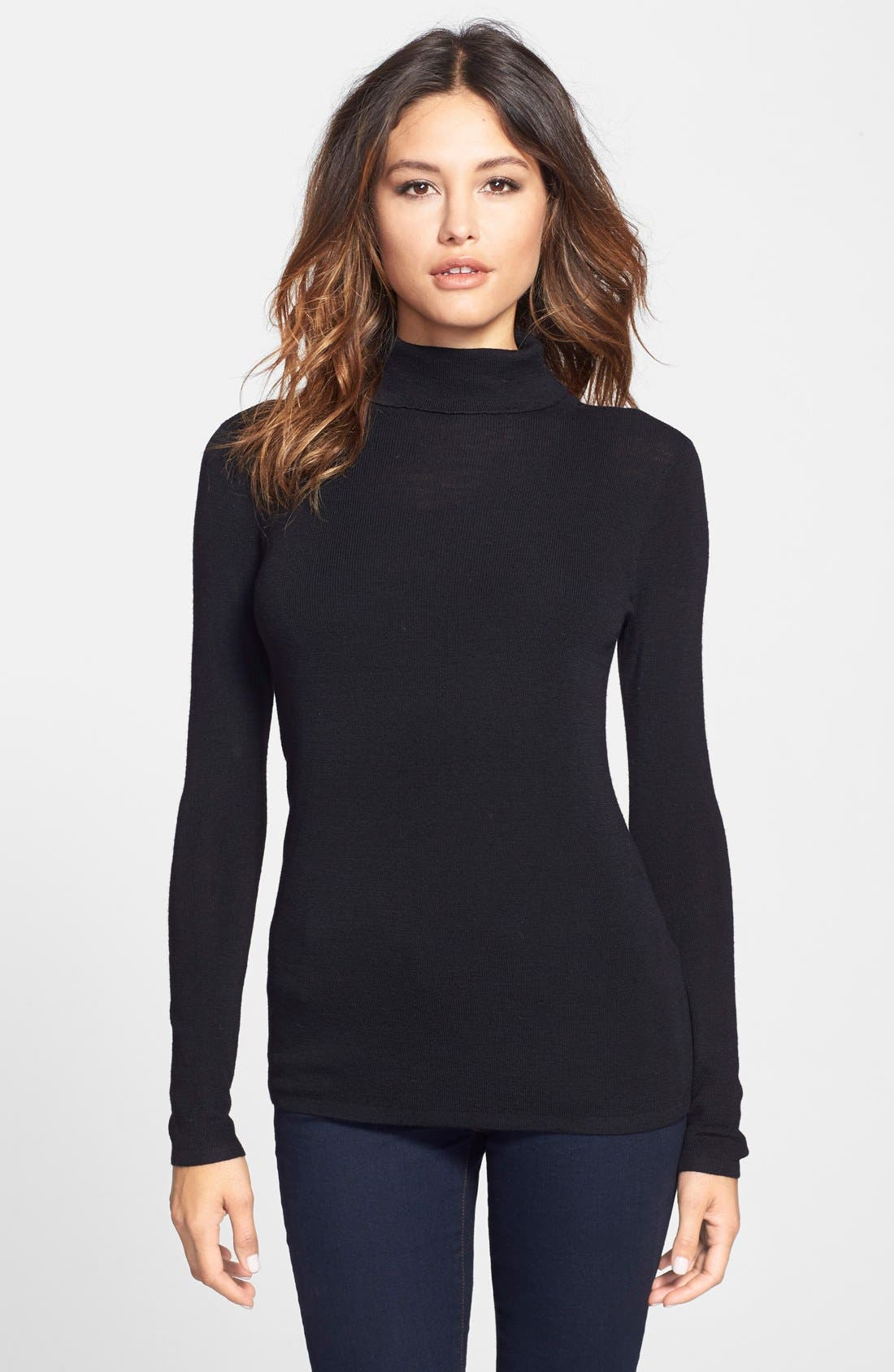 The Fisher Project Ultrafine Merino Turtleneck Sweater,                         Main,                         color,