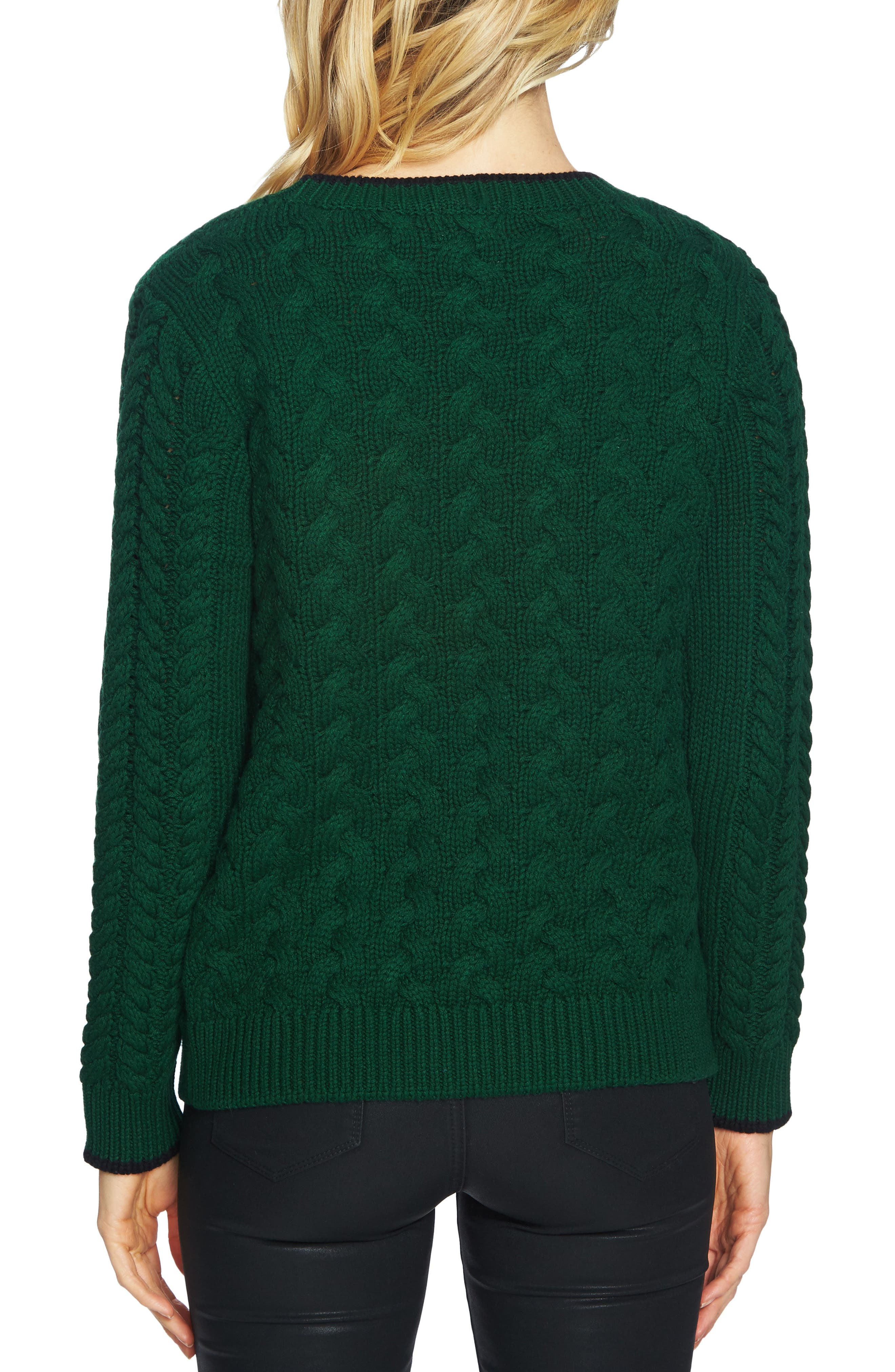 Double Layer Cable Stitch Sweater,                             Alternate thumbnail 5, color,