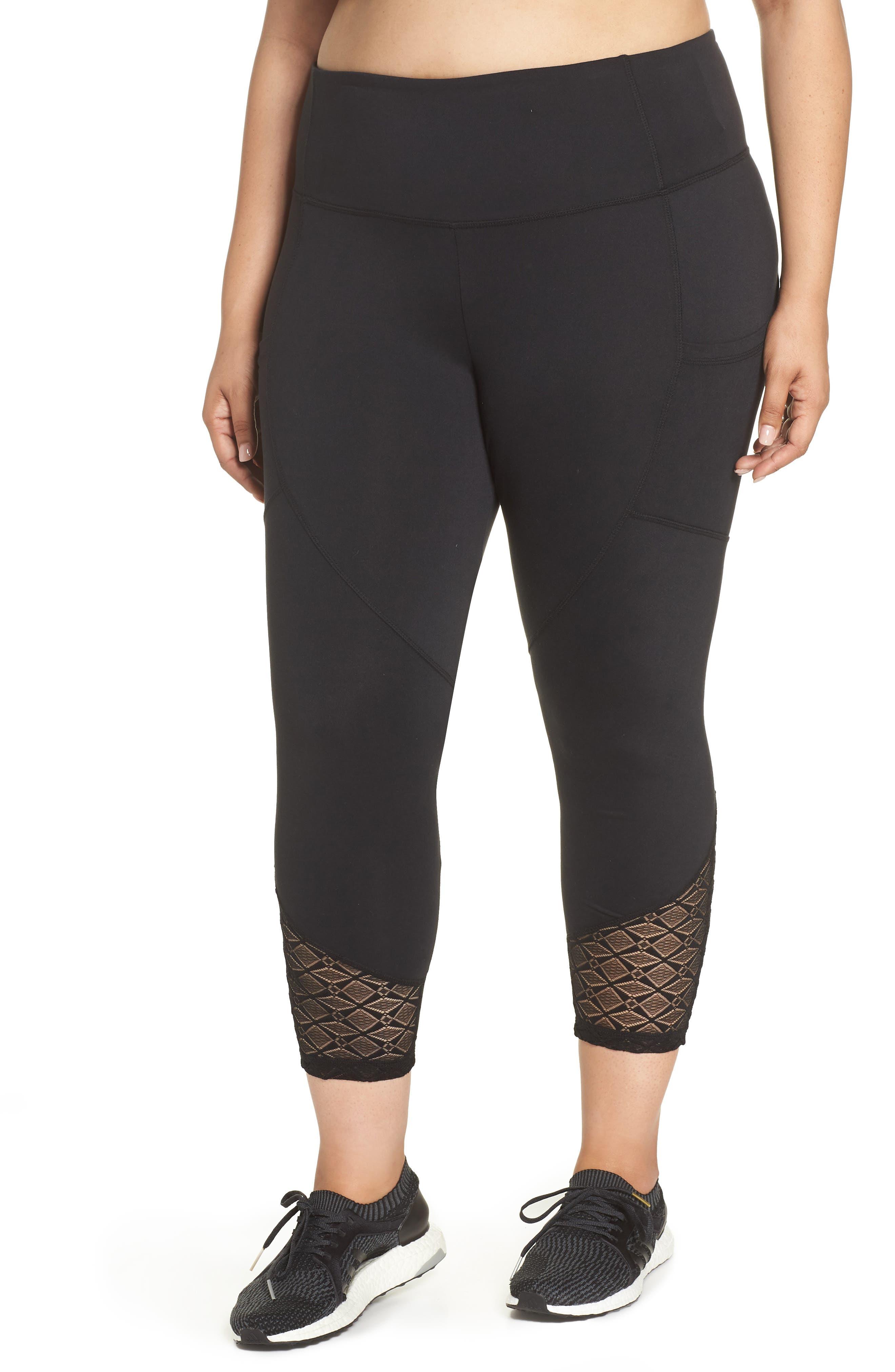 Evie Capri Leggings,                         Main,                         color, BLACK