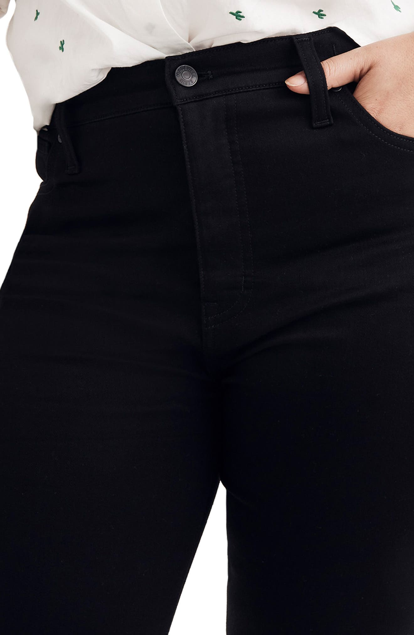 10-Inch High Rise Skinny Jeans,                             Alternate thumbnail 8, color,                             CARBONDALE