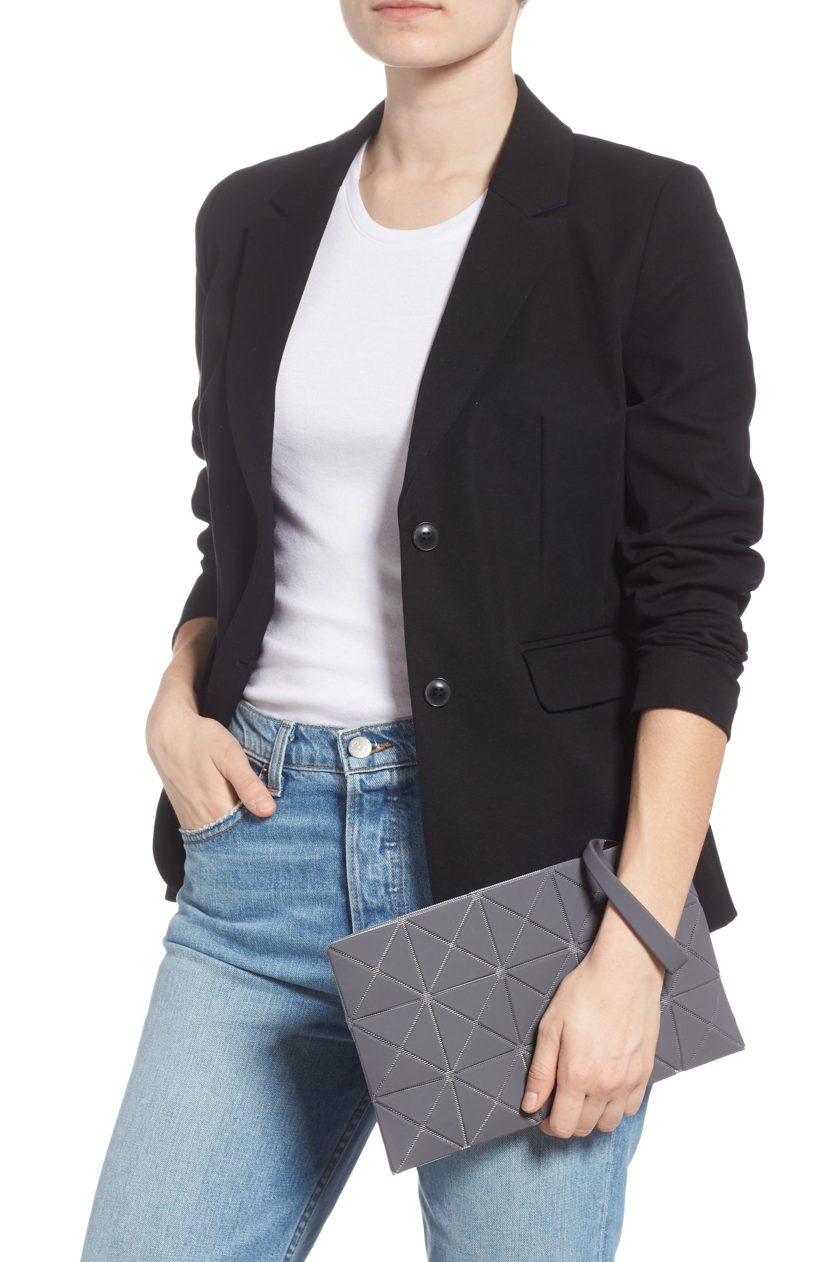 Lucent Faux Leather Wristlet,                         Main,                         color, GRAY