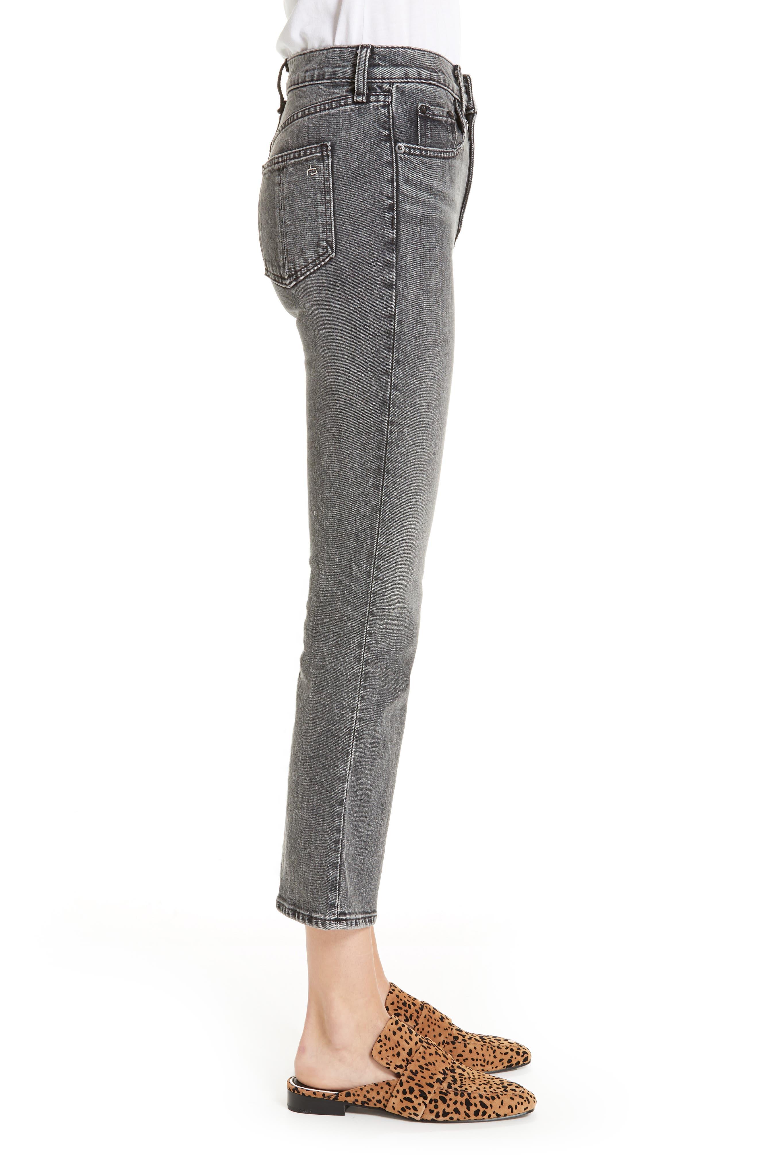 Hana Crop Kick Flare Jeans,                             Alternate thumbnail 3, color,                             010