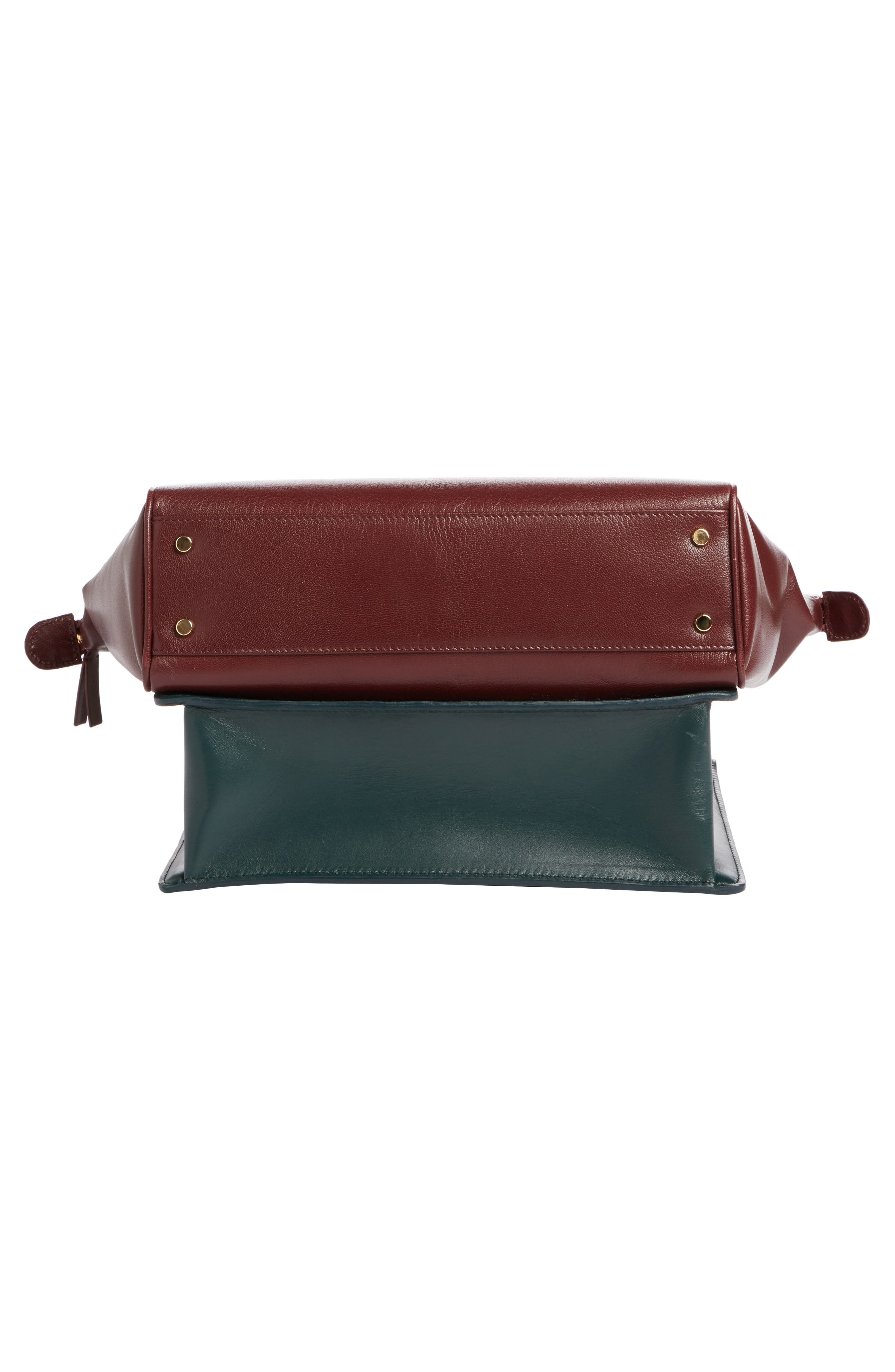 Collage Double Calfskin Leather Bag,                             Alternate thumbnail 4, color,                             641