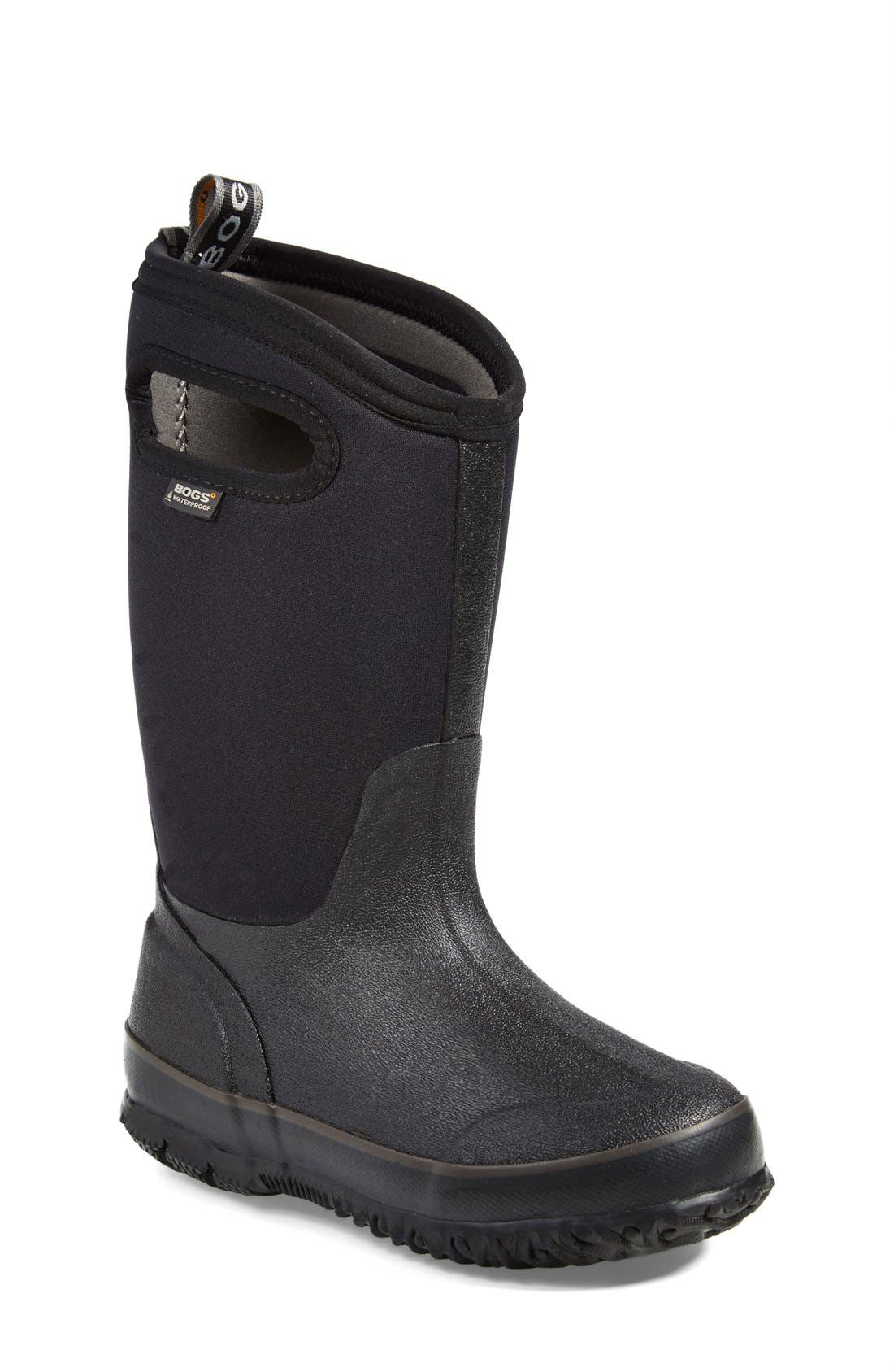 Classic High Waterproof Boot,                         Main,                         color, BLACK