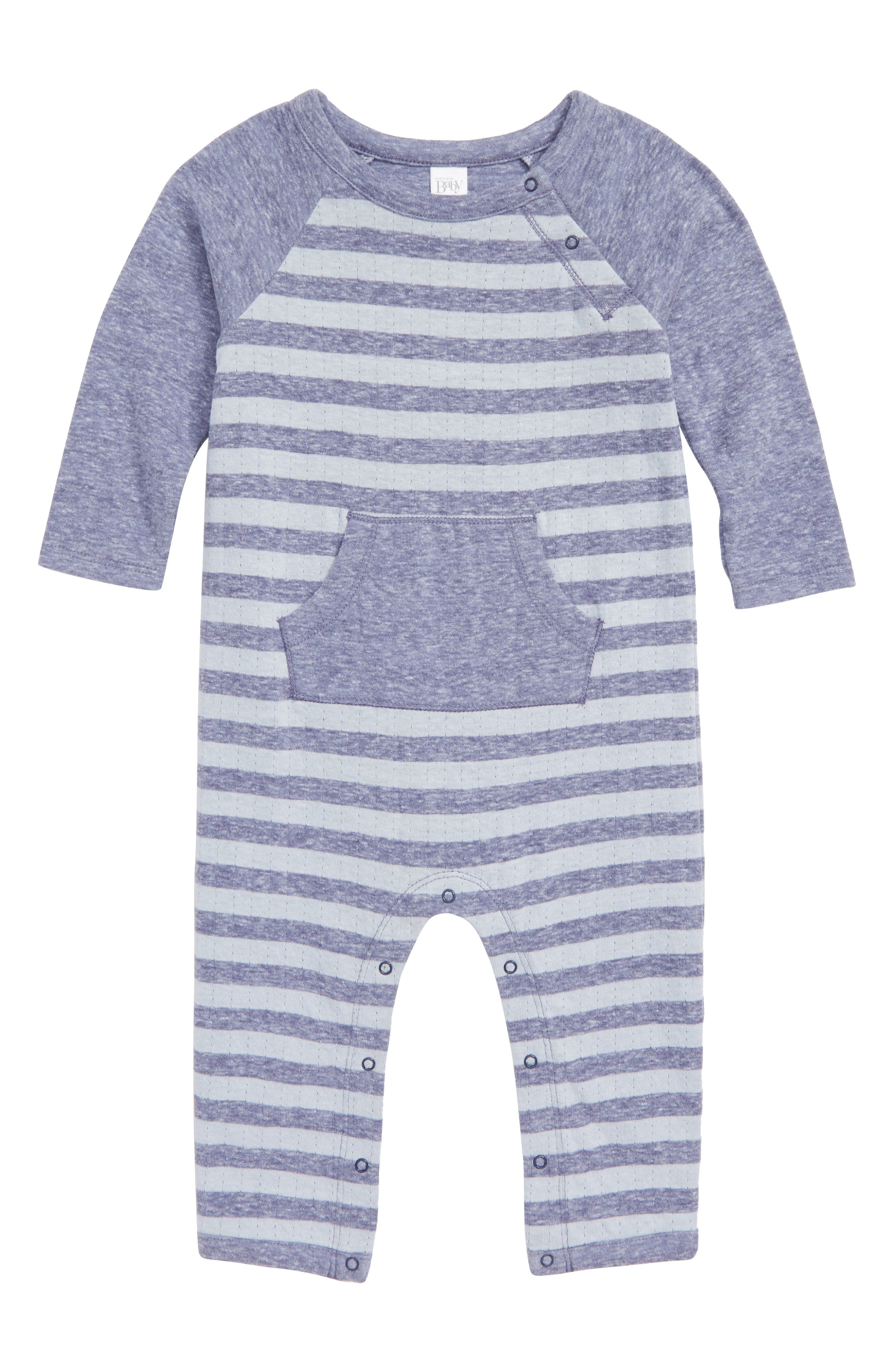 Cozy Coveralls,                         Main,                         color, NAVY CROWN STRIPE