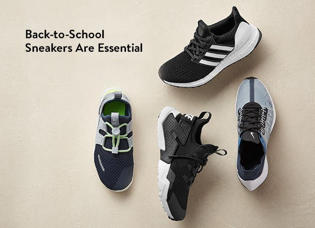 Back-to-school boys' sneakers are essential.
