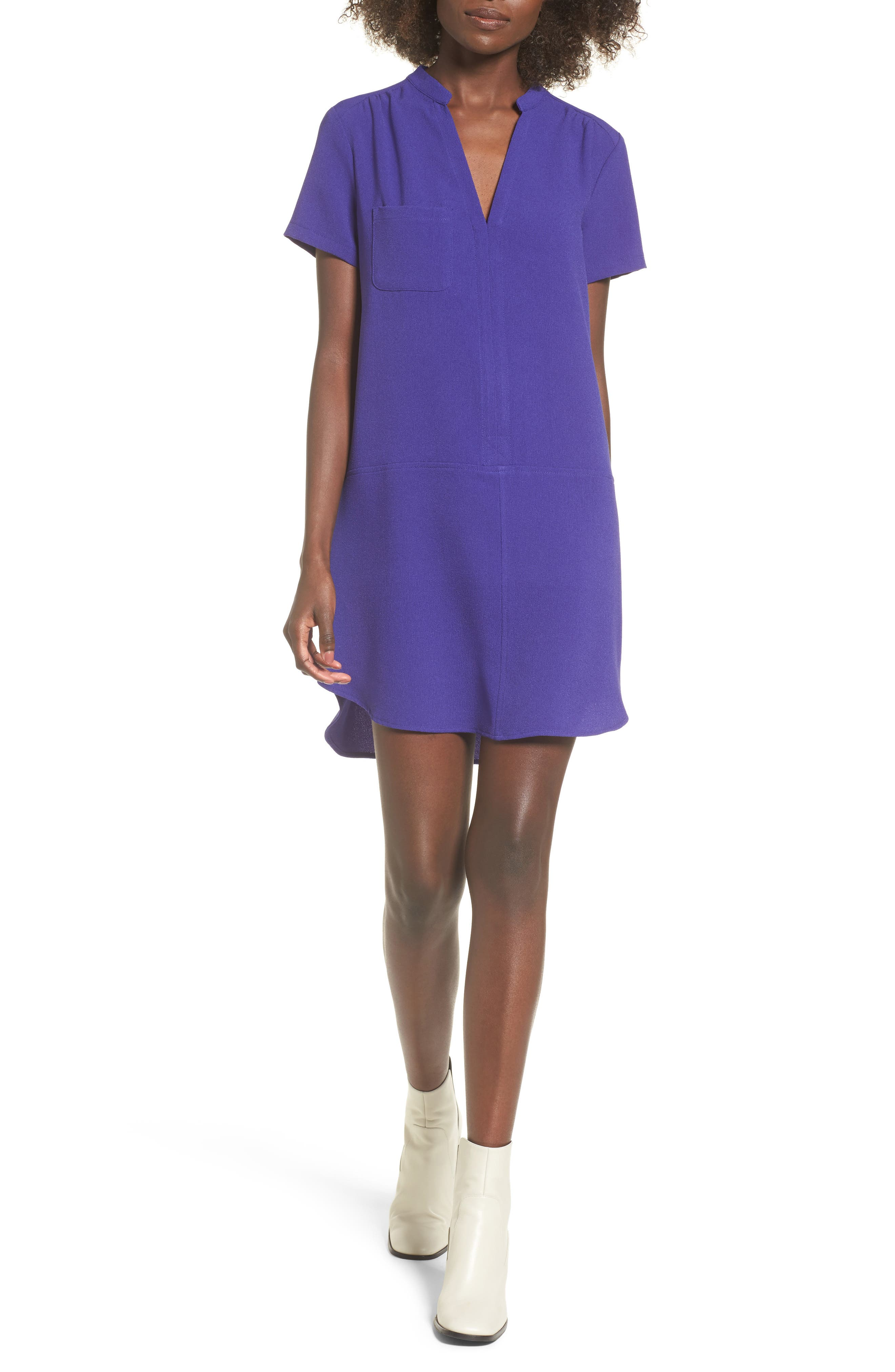 Hailey Crepe Dress,                             Main thumbnail 9, color,