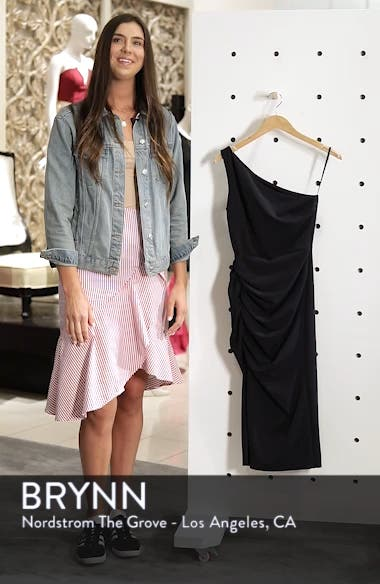 One-Shoulder Crepe Dress, sales video thumbnail