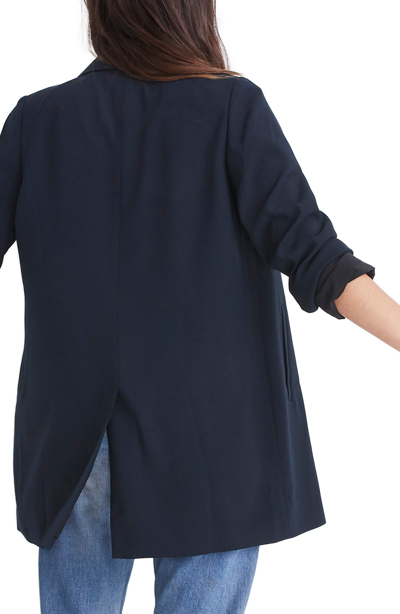 Caldwell Double Breasted Blazer,                             Alternate thumbnail 3, color,                             TRUE BLACK