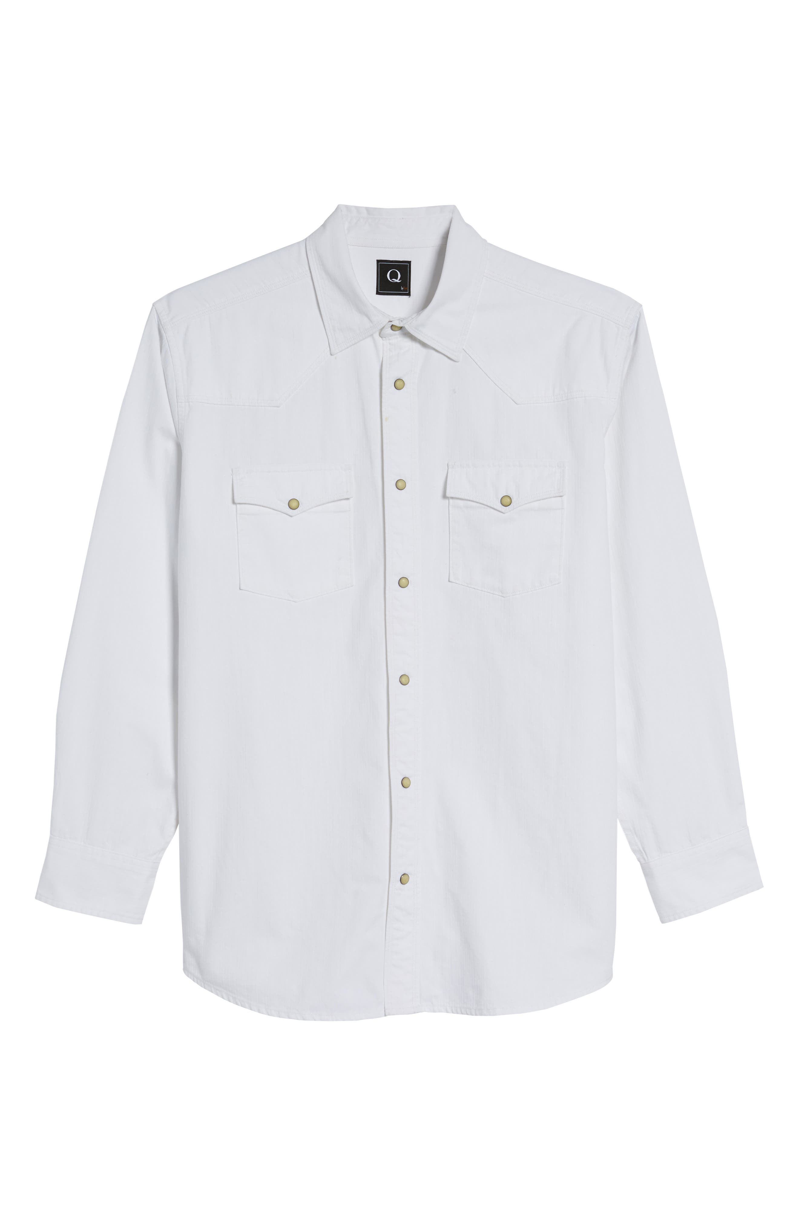 Regular Fit Denim Western Shirt,                             Alternate thumbnail 6, color,                             100