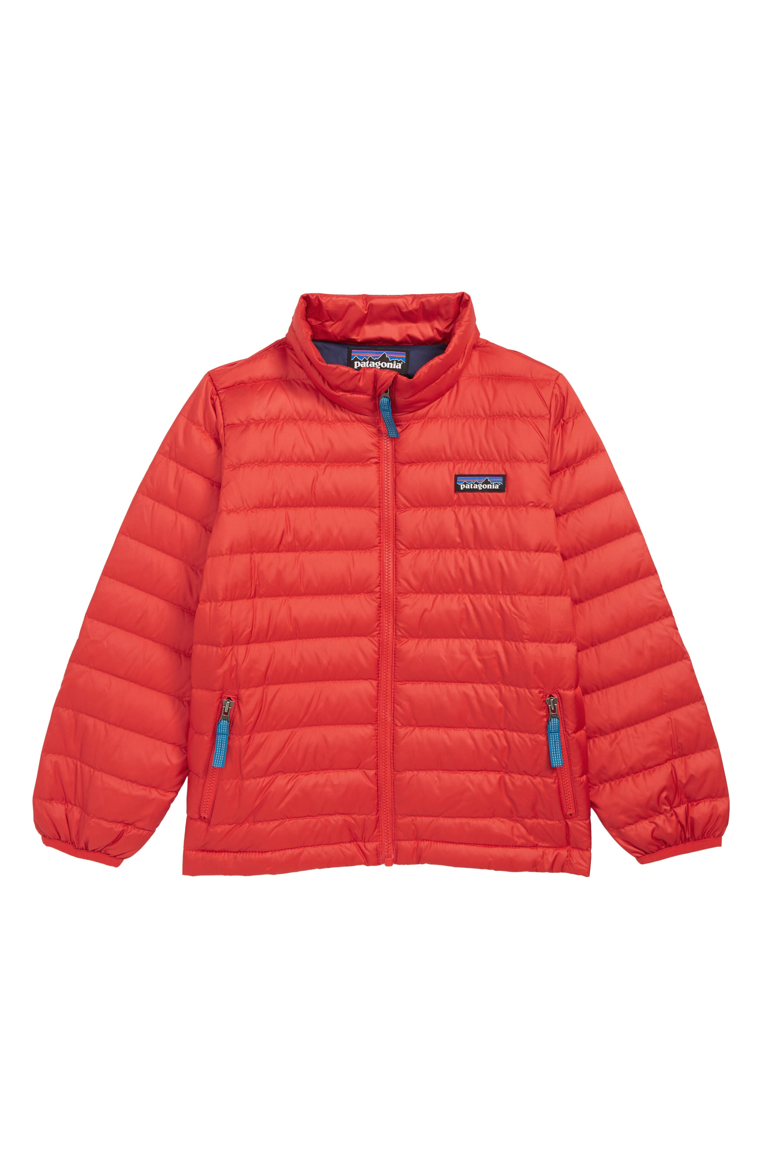 PATAGONIA,                             Water Repellent 600-Fill Power Down Sweater Jacket,                             Main thumbnail 1, color,                             FRE FIRE