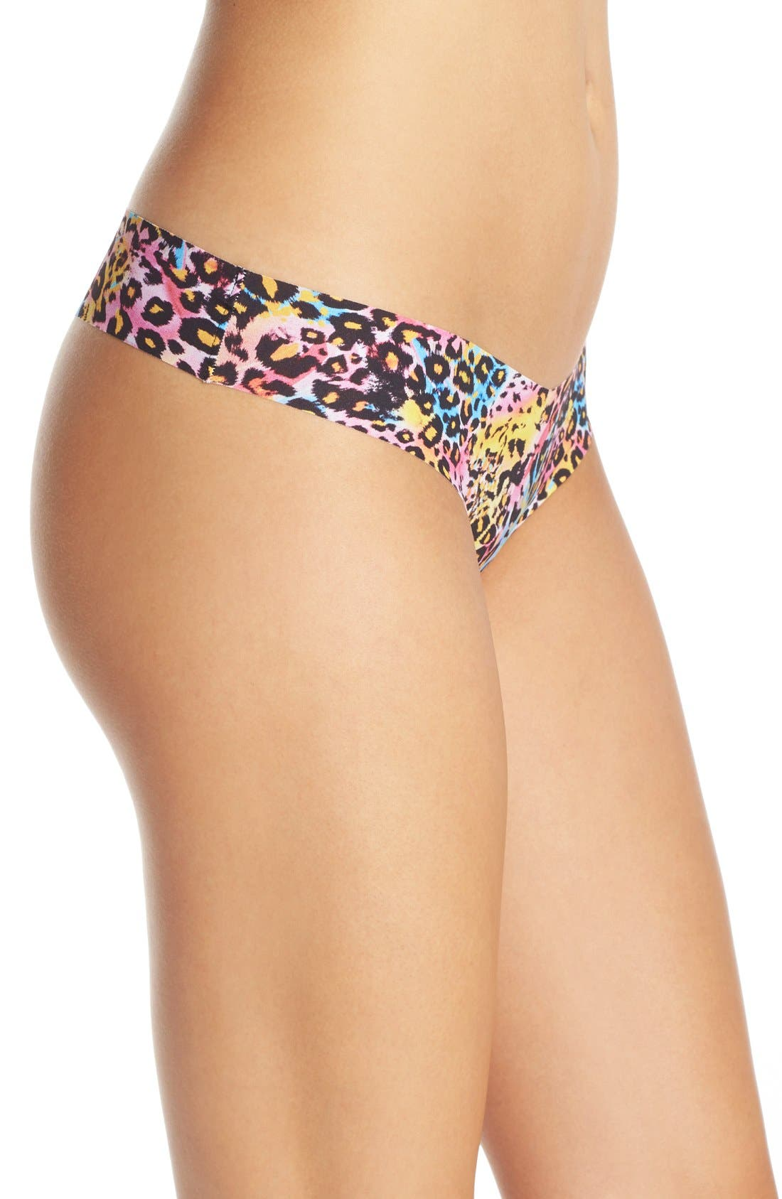 Print Microfiber Thong,                             Alternate thumbnail 304, color,