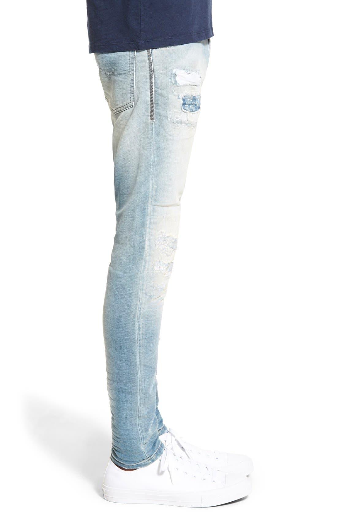 'Spender' Skinny Fit Jeans,                             Alternate thumbnail 4, color,                             400